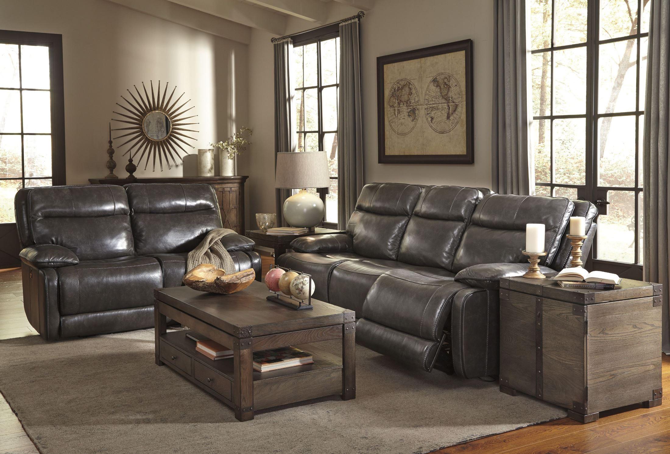 Palladum Metal Power Reclining Living Room Set From Ashley (U7260187) |  Coleman Furniture