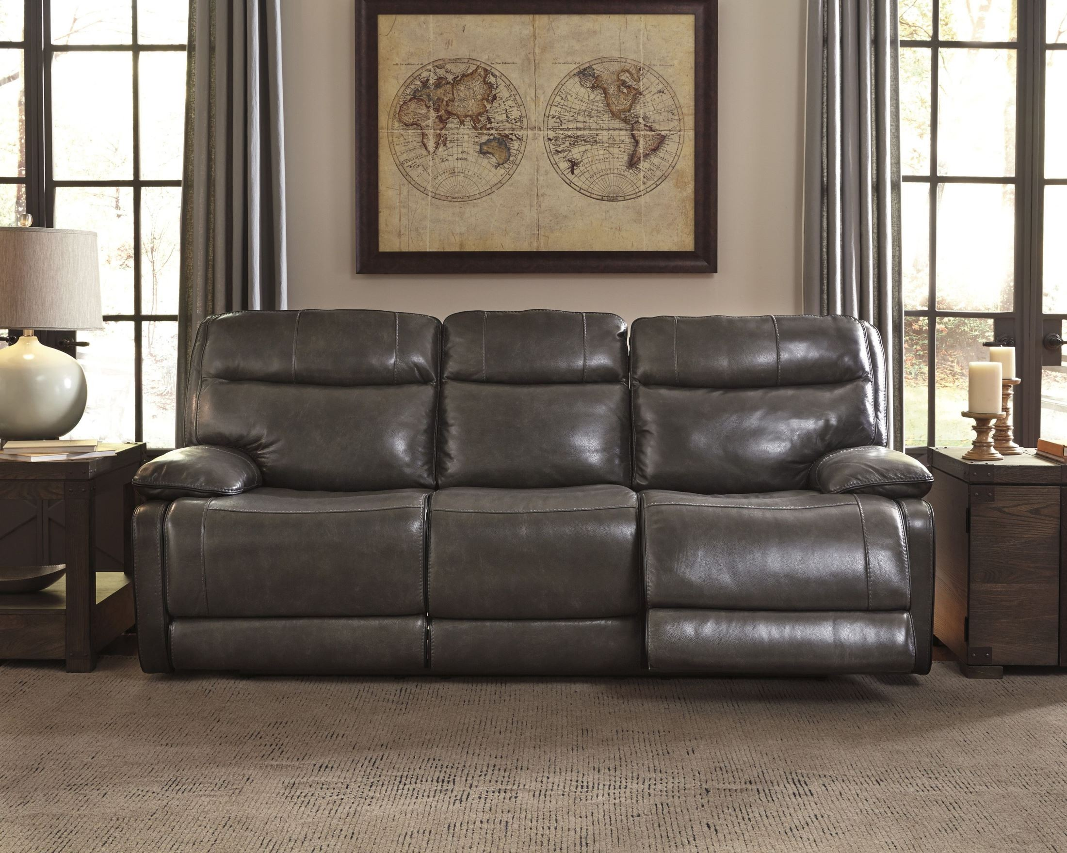 Palladum Metal Reclining Sofa From Ashley U7260188