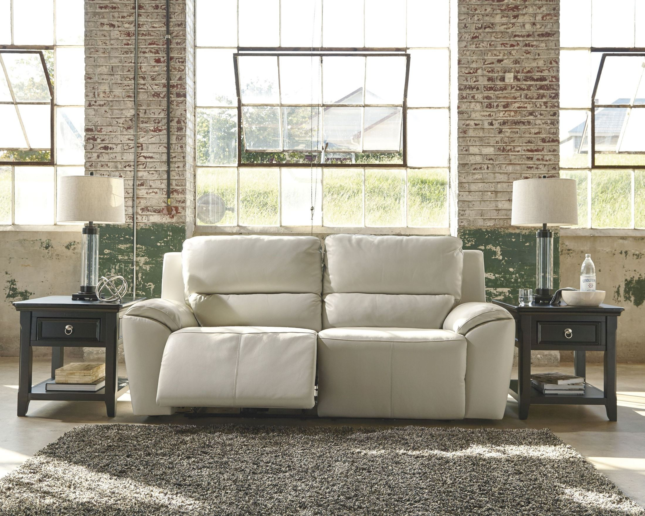 Valeton Cream 2 Seat Power Reclining Sofa From Ashley