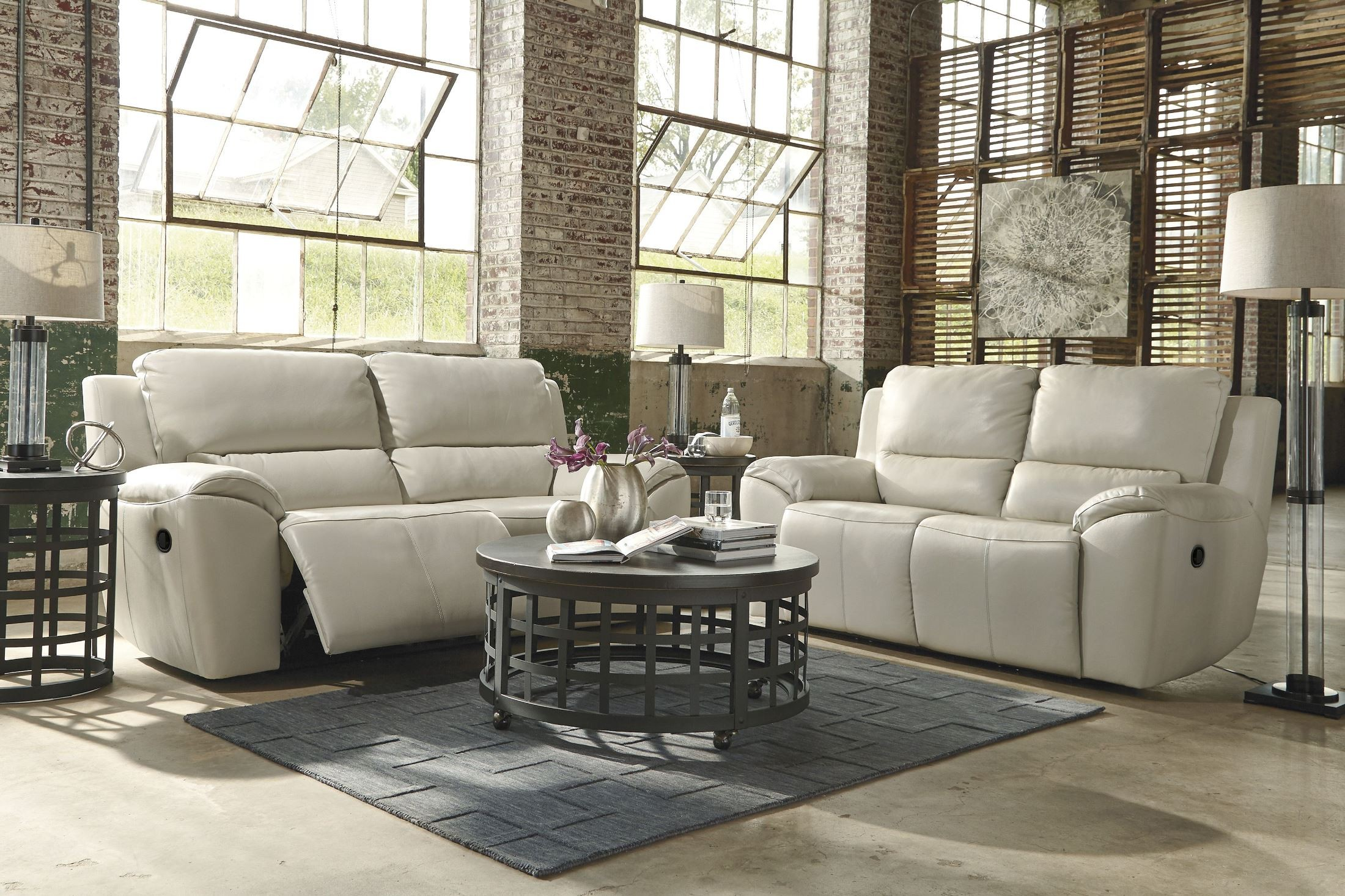 Valeton Cream Reclining Living Room Set By Ashley Furniture