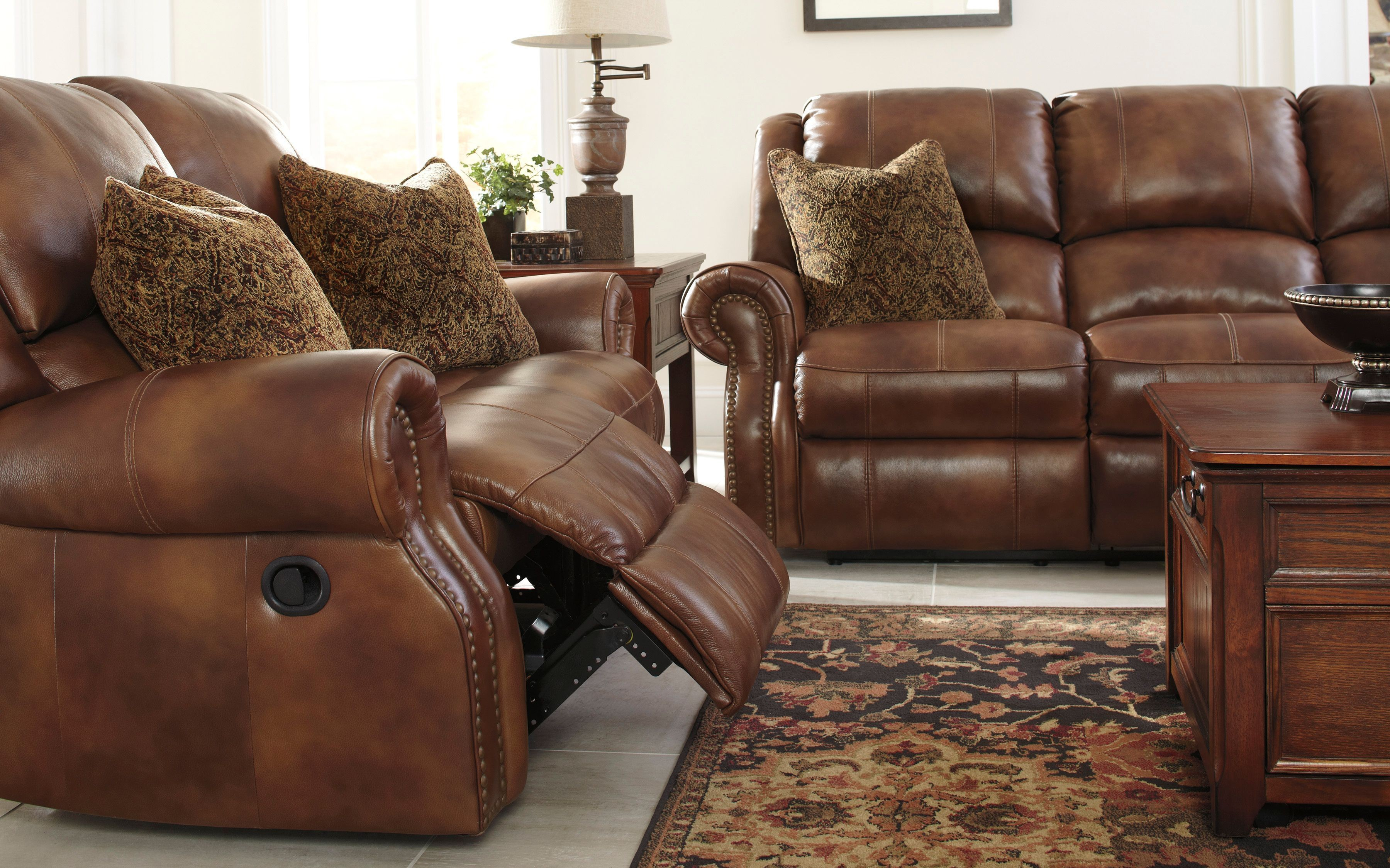 Walworth Auburn Reclining Living Room Set From Ashley