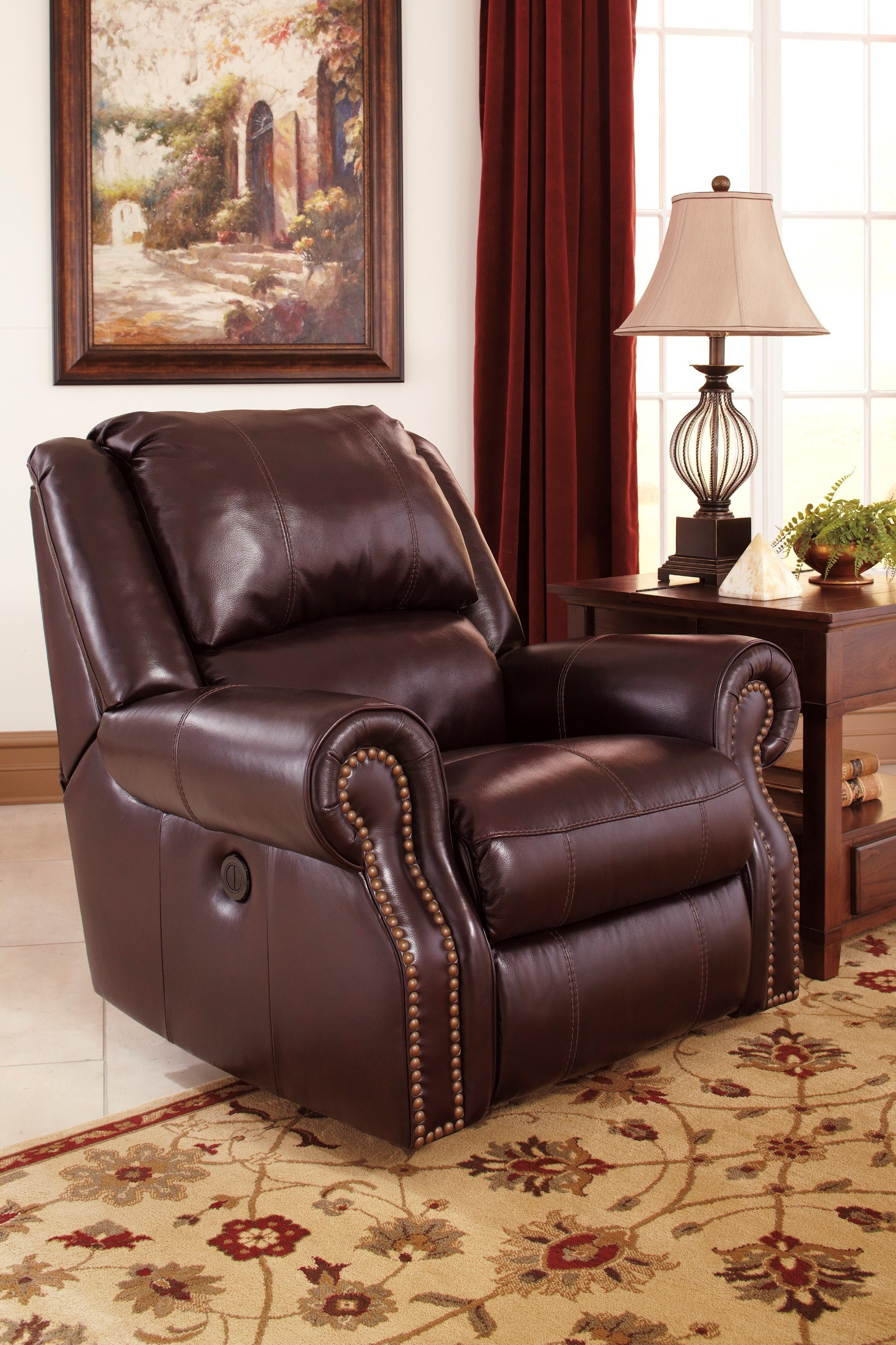 Walworth Blackcherry Power Reclining Living Room Set from Ashley