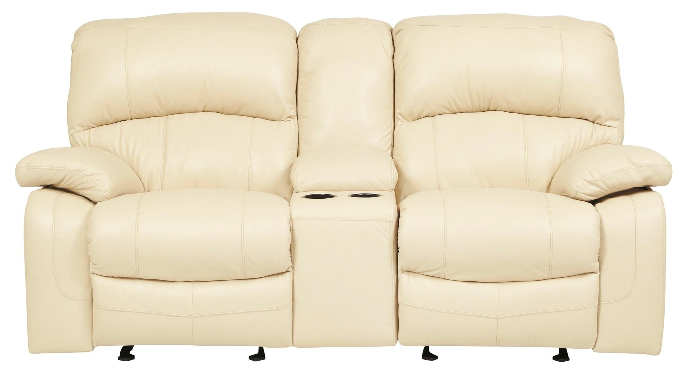 damacio cream glider power reclining loveseat with console