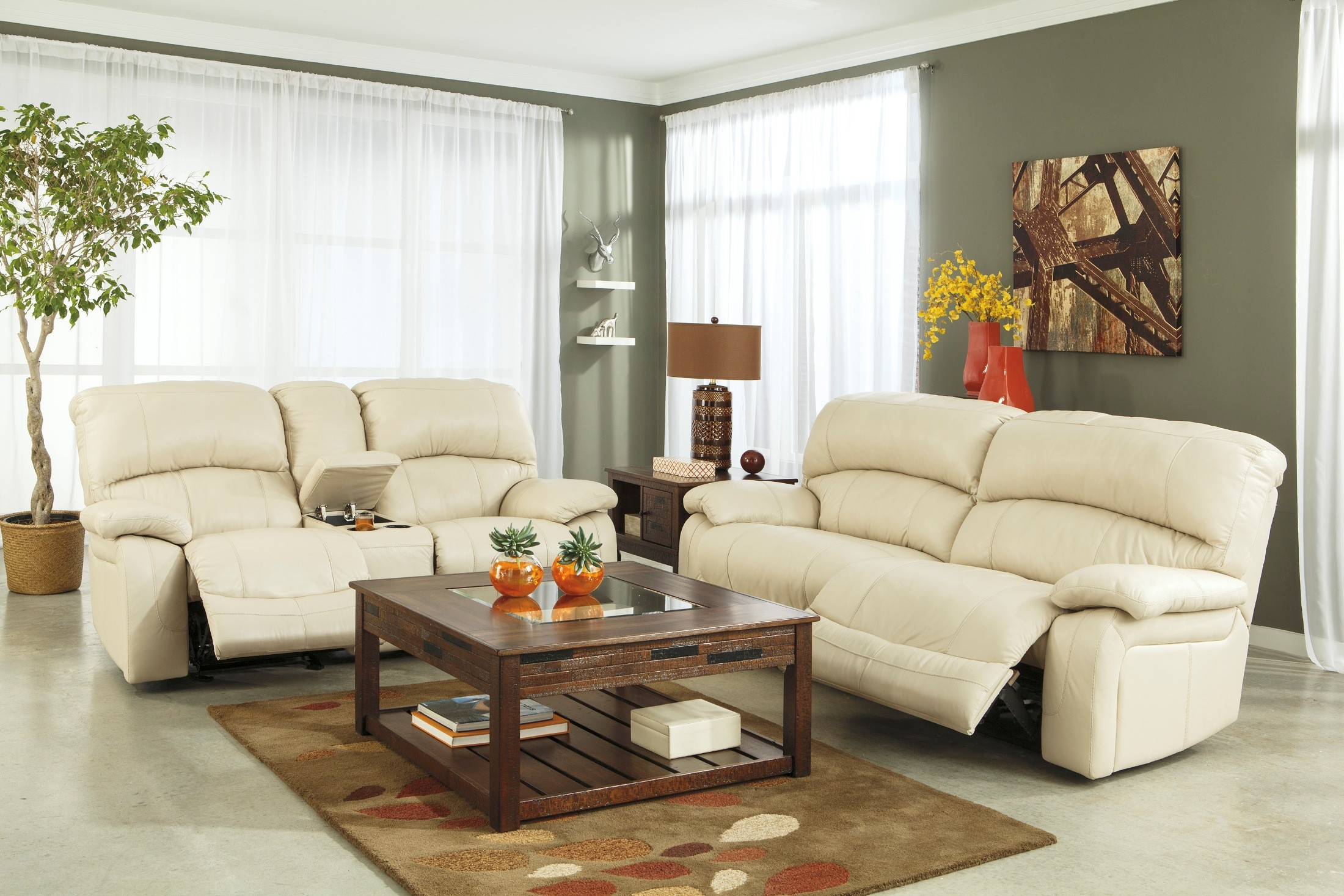Damacio Cream Zero Wall Power Wide Recliner from Ashley U