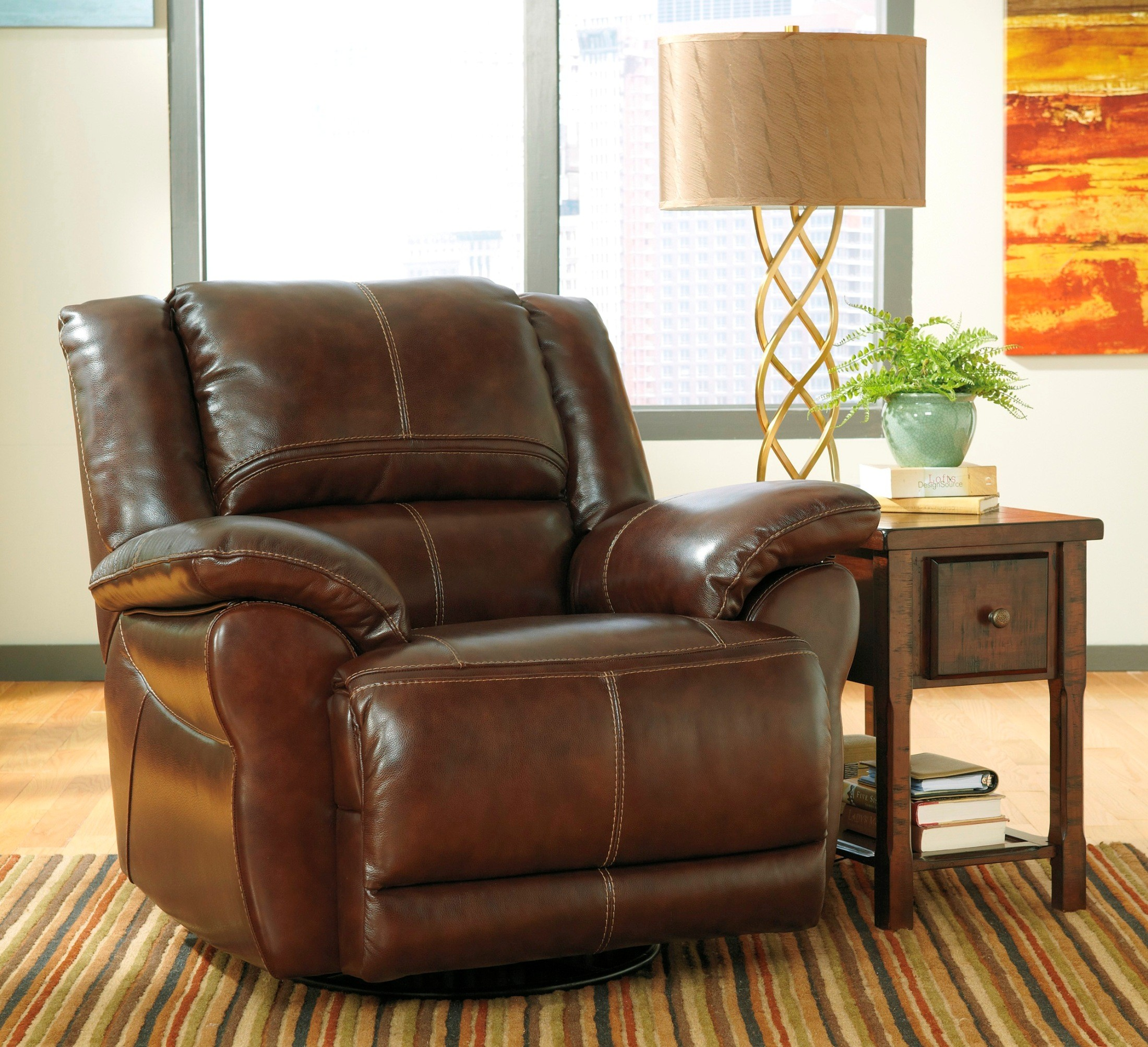 Lenoris Coffee Power Reclining Living Room Set From Ashley