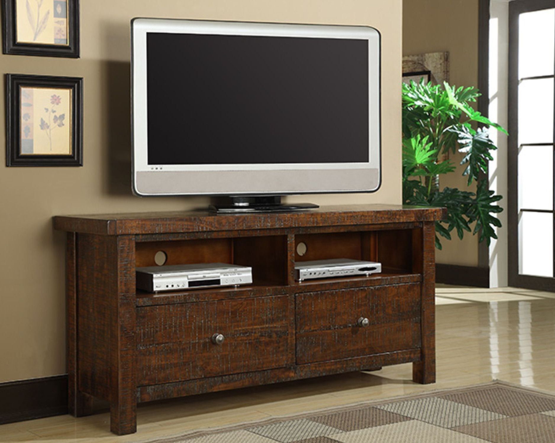 Castlegate Pine 64 Tv Console From Emerald Home Coleman Furniture