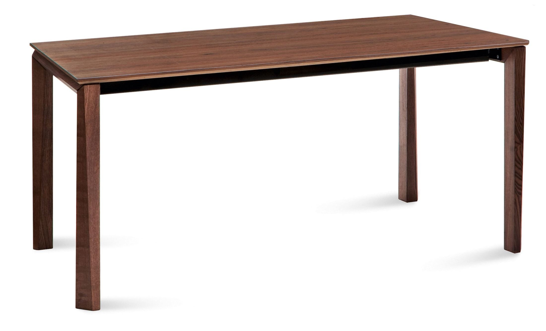 Universe walnut extendable rectangular dining table from for Table 6 in as 3725