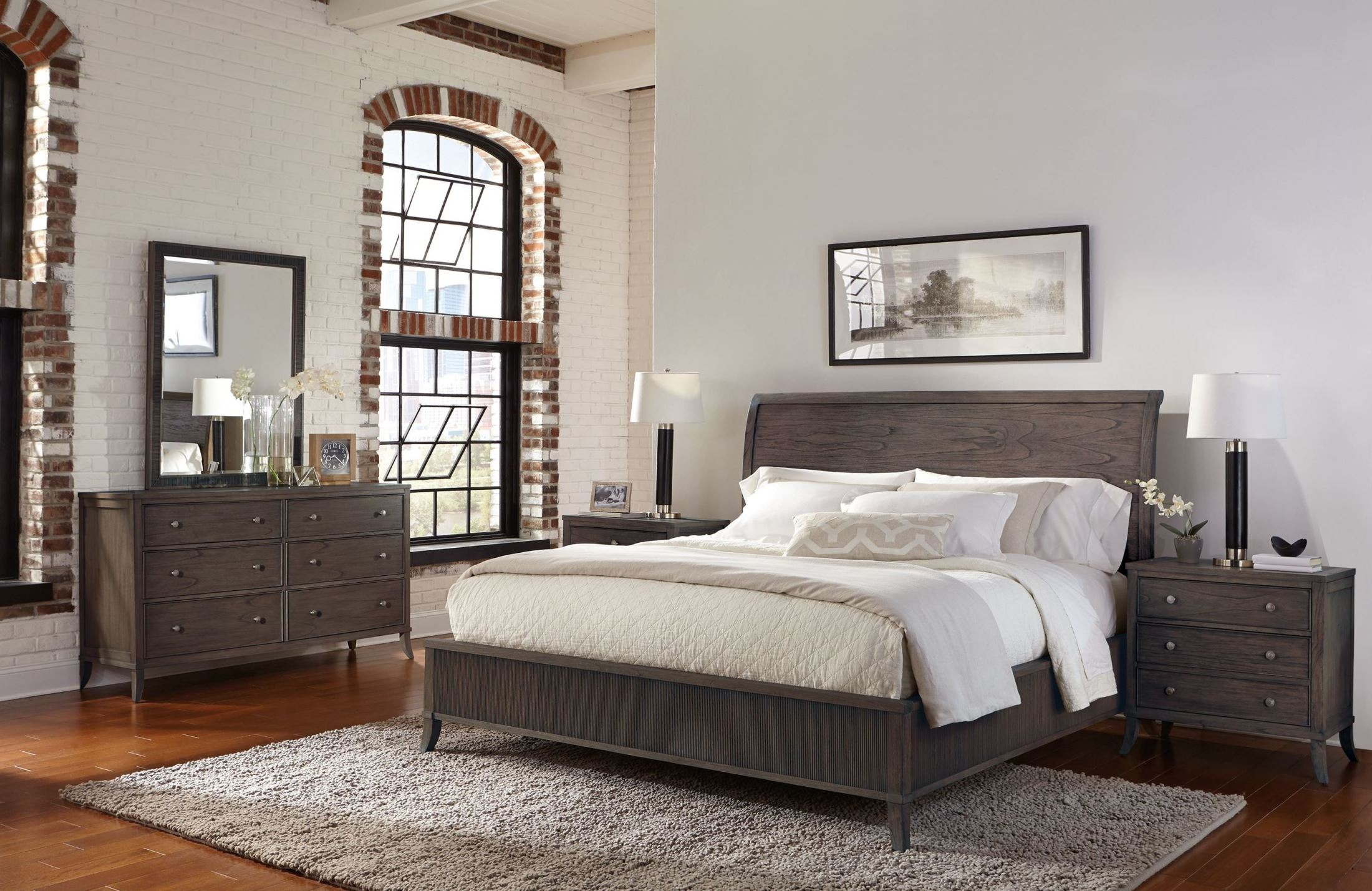 Urban Retreat Sumatra Wood Sleigh Bedroom Set From Hekman Furniture Coleman Furniture