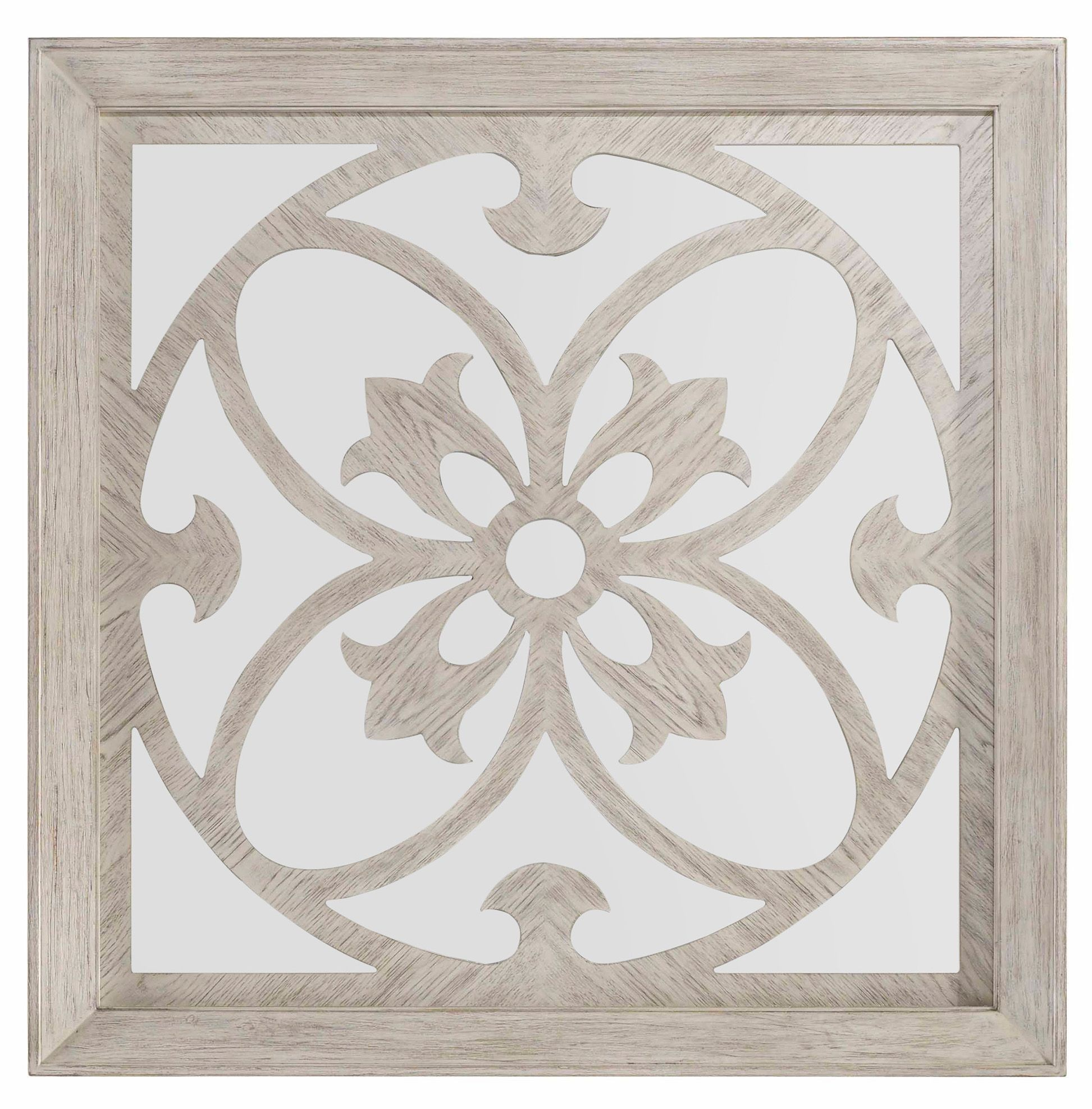 Sunset point white decorative square mirror from hooker for White decorative mirror