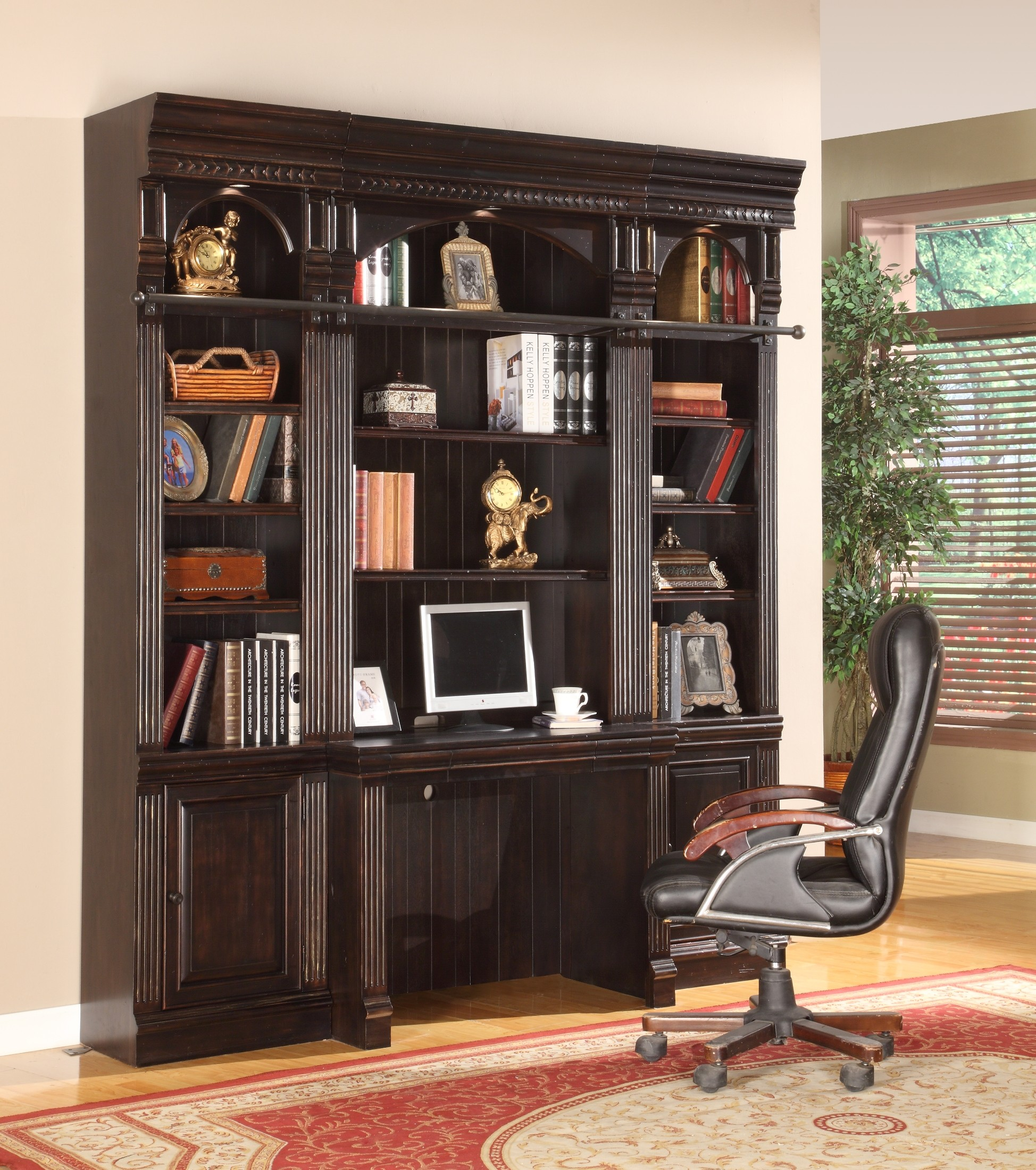 Wall Desk Units For Home: Venezia 4 Piece Wall Unit From Parker House (VEN-420(2