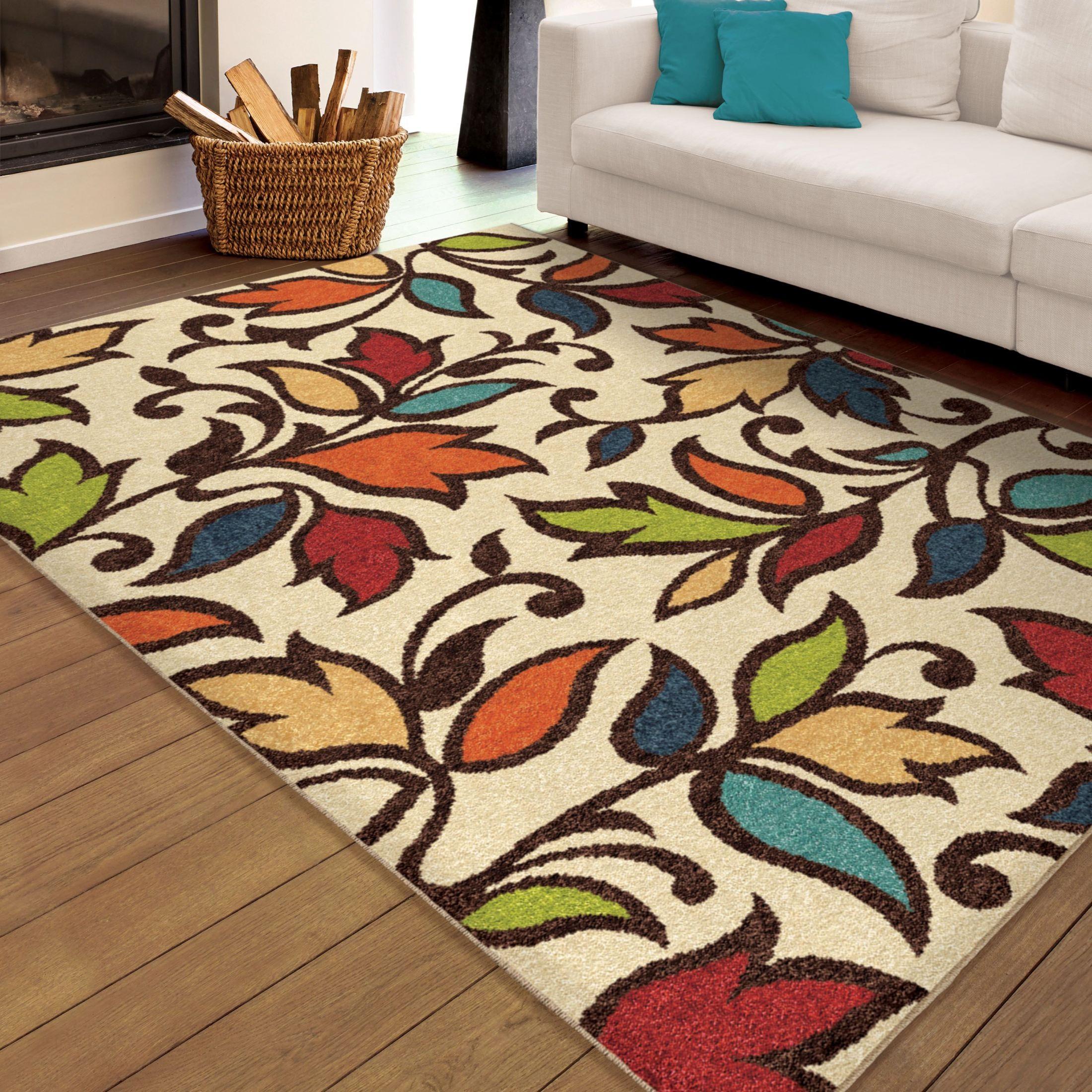 Star Rug Santa Barbara: Veranda Indoor/Outdoor Leaves Despeinada Ivory Large Area