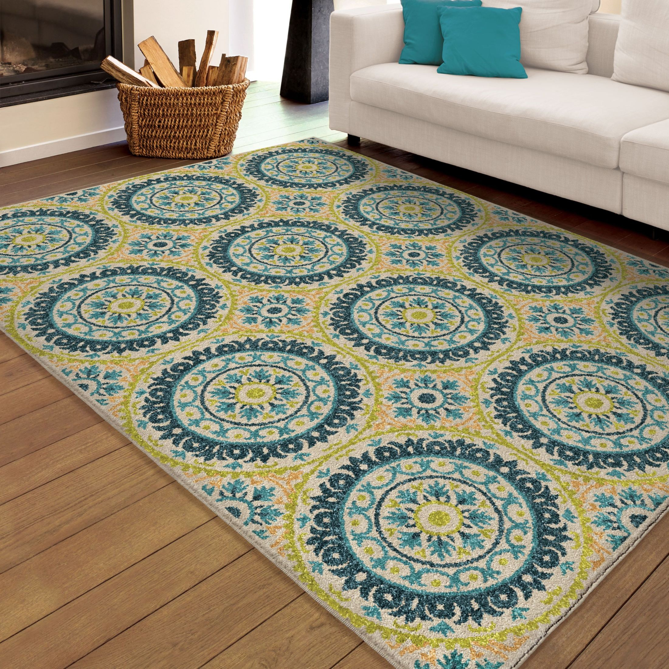 large outdoor rugs orian rugs indoor outdoor medallion hamilton multi area 654