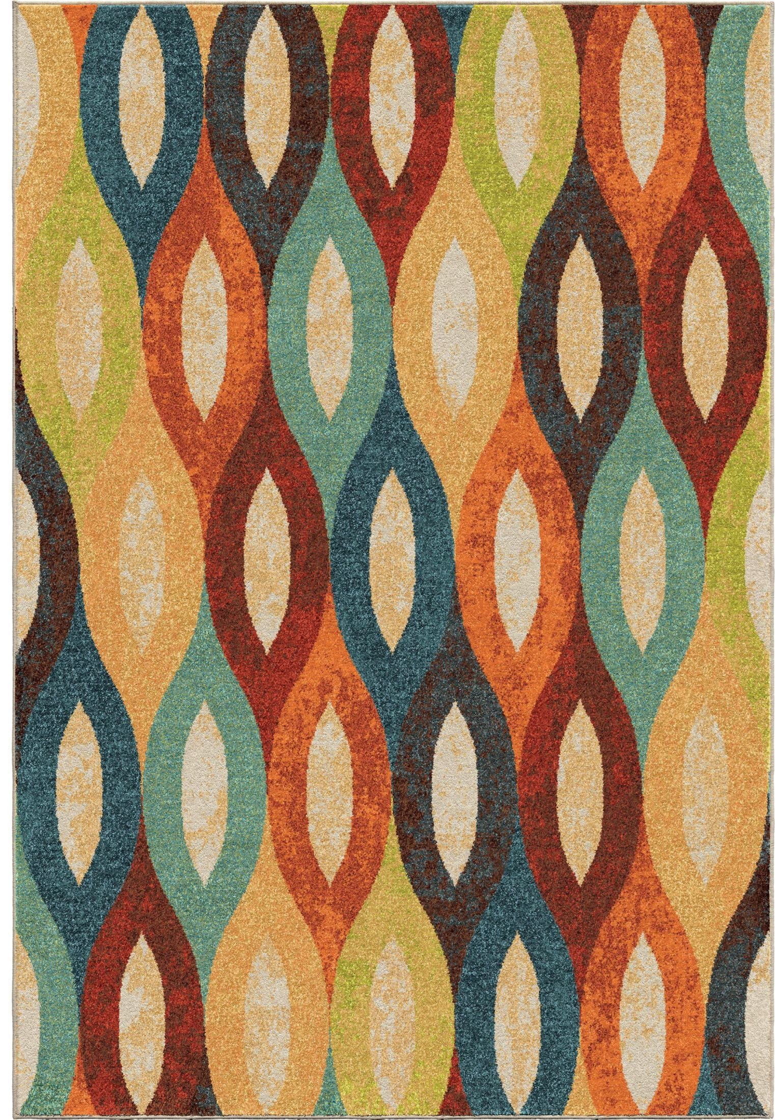 Spoleto Bright Color Ovals Britwick Multi Large Area Rug