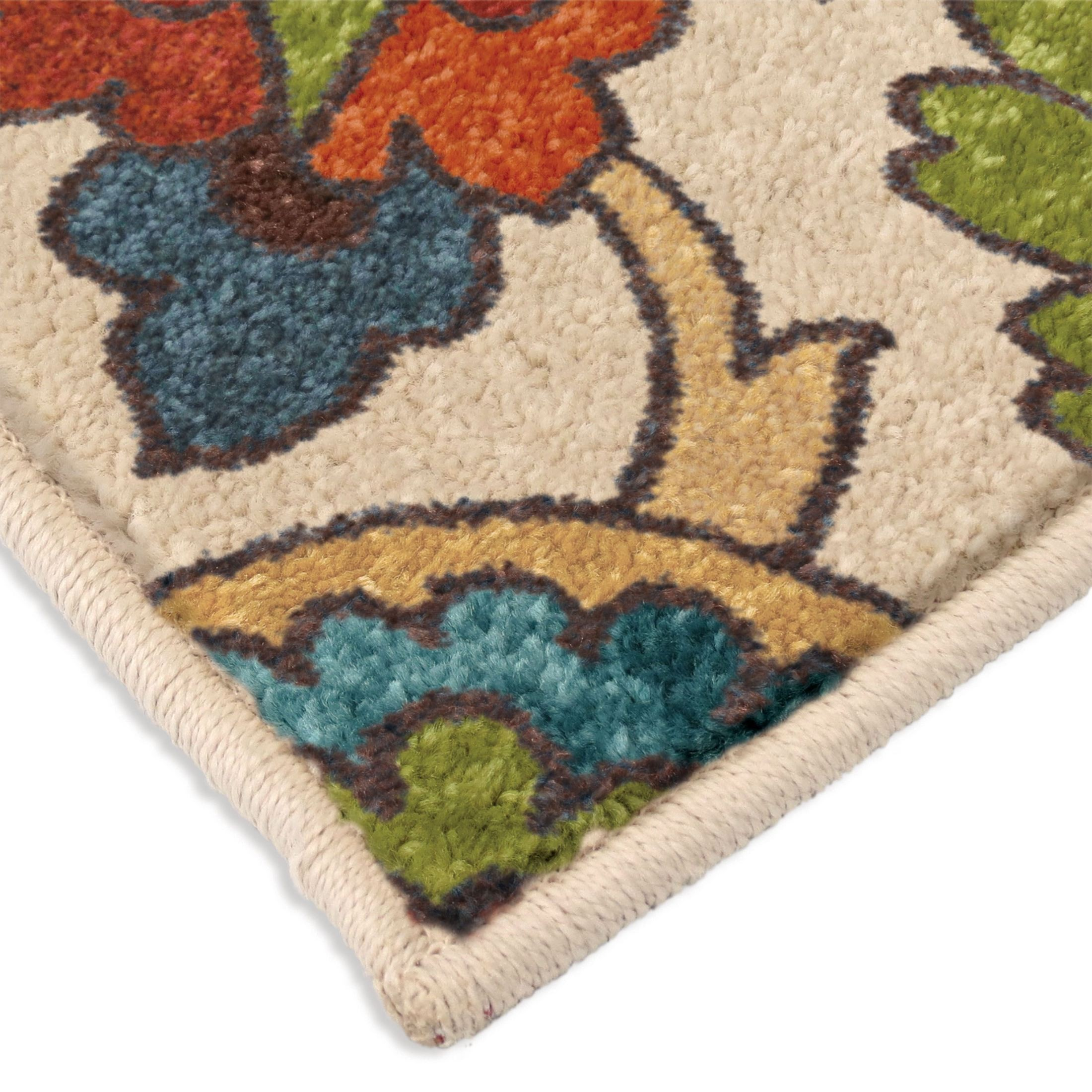 Discount 8x11 Area Rugs: Spoleto Bright Color Paisley Ginger Garden Multi Large