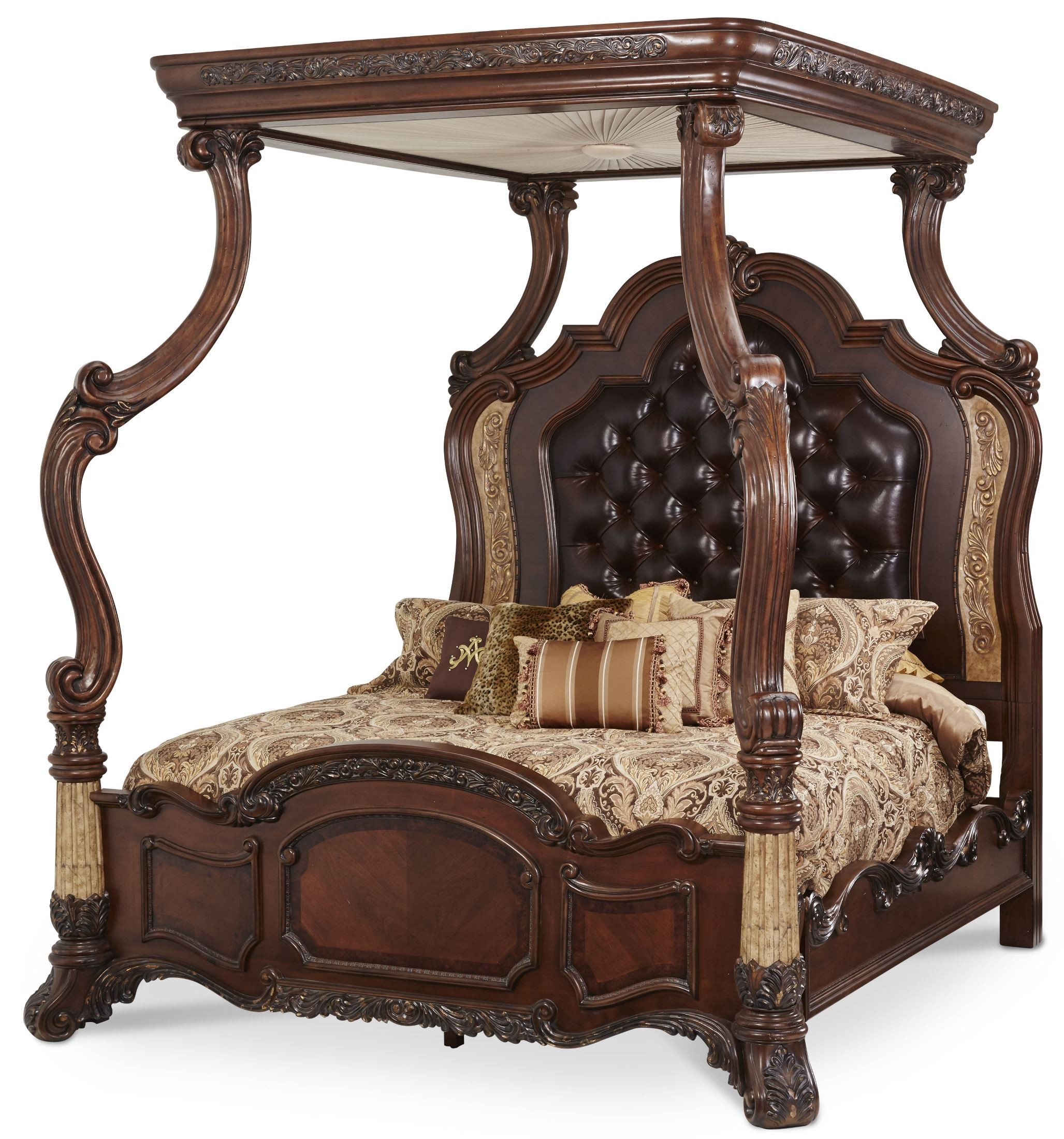 victoria palace king canopy bed from aico 61000ekbed429