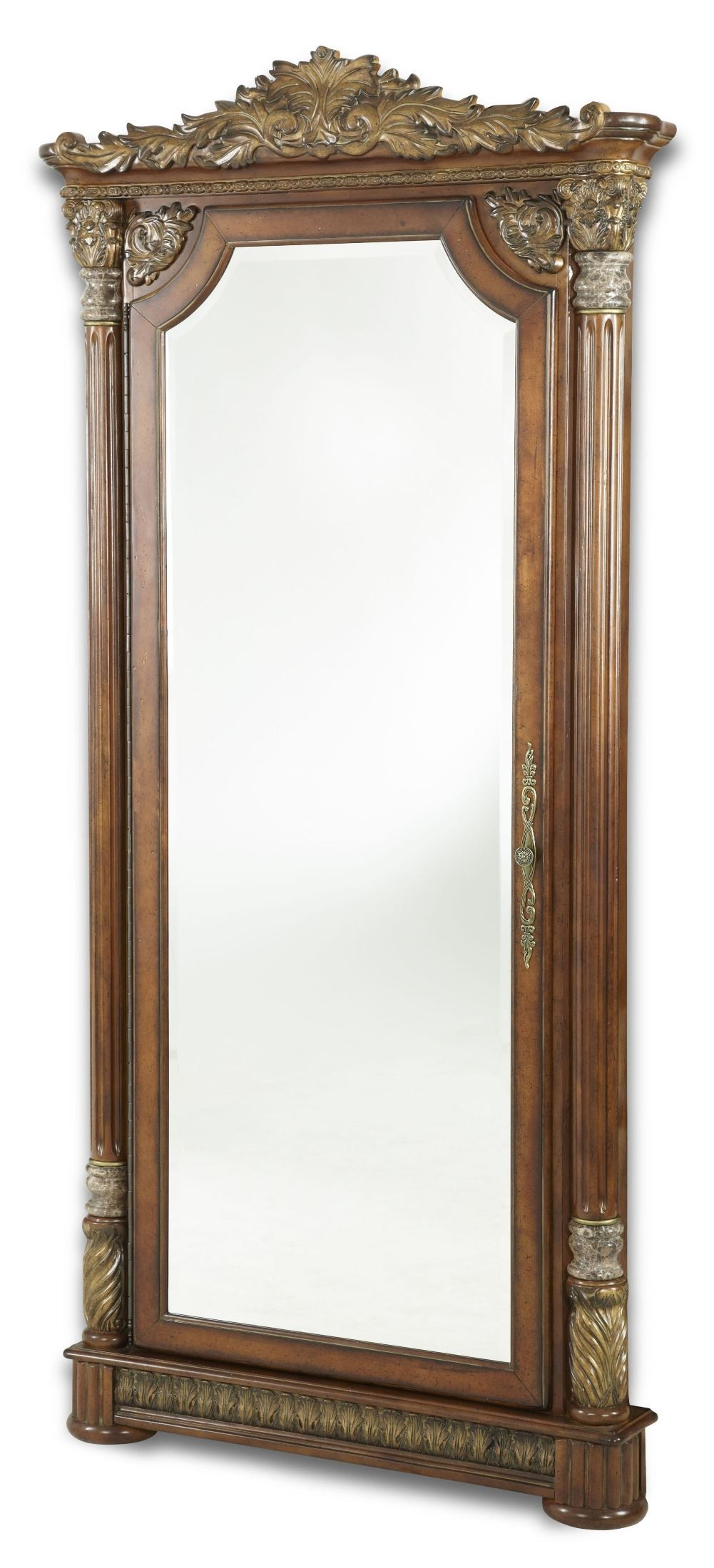 Valencia Carved Wood Traditional Bedroom Furniture Set 209000: Villa Valencia Accent Wall Mirror From Aico (72062-55