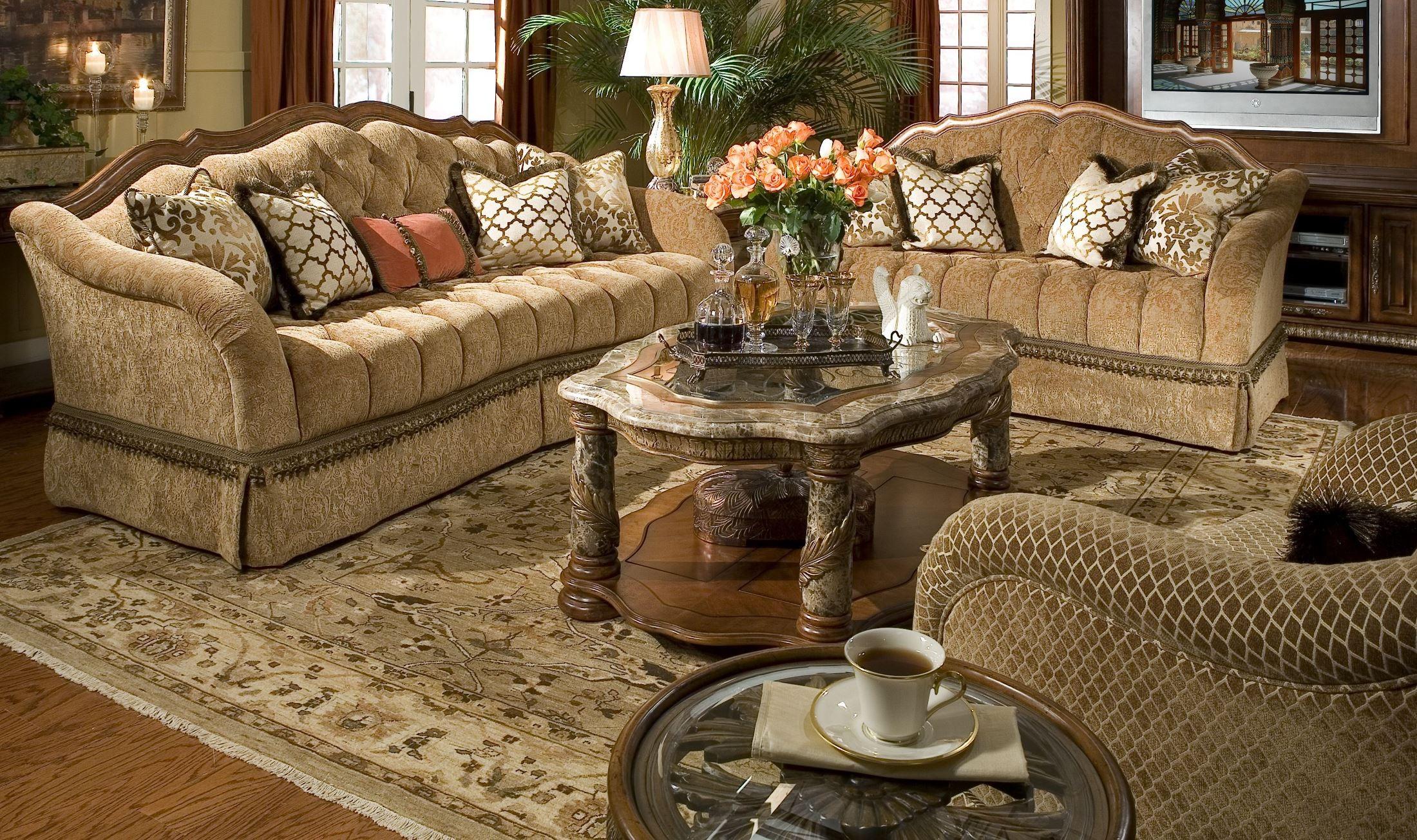 Villa valencia living room set from aico 72815 coleman furniture for Aico furniture living room set