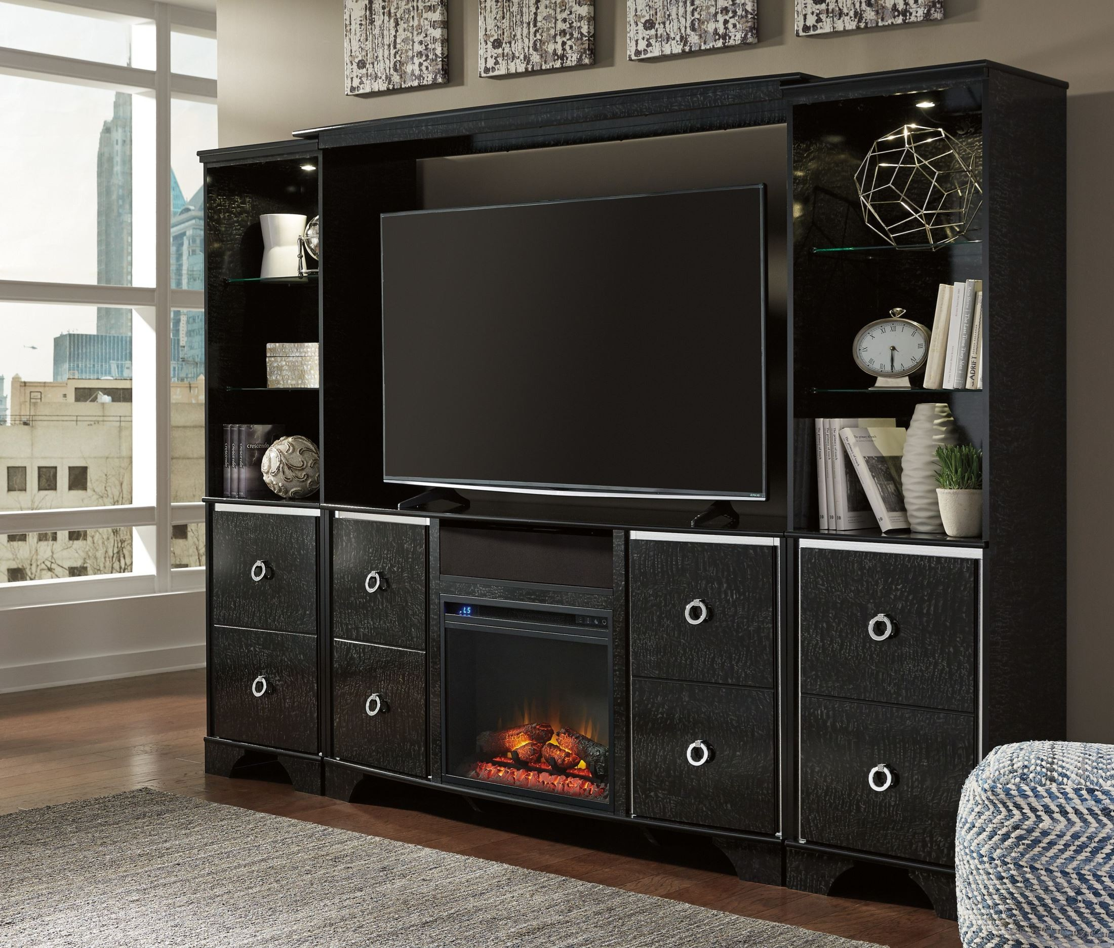 Amrothi Black TV Stand from Ashley | Coleman Furniture
