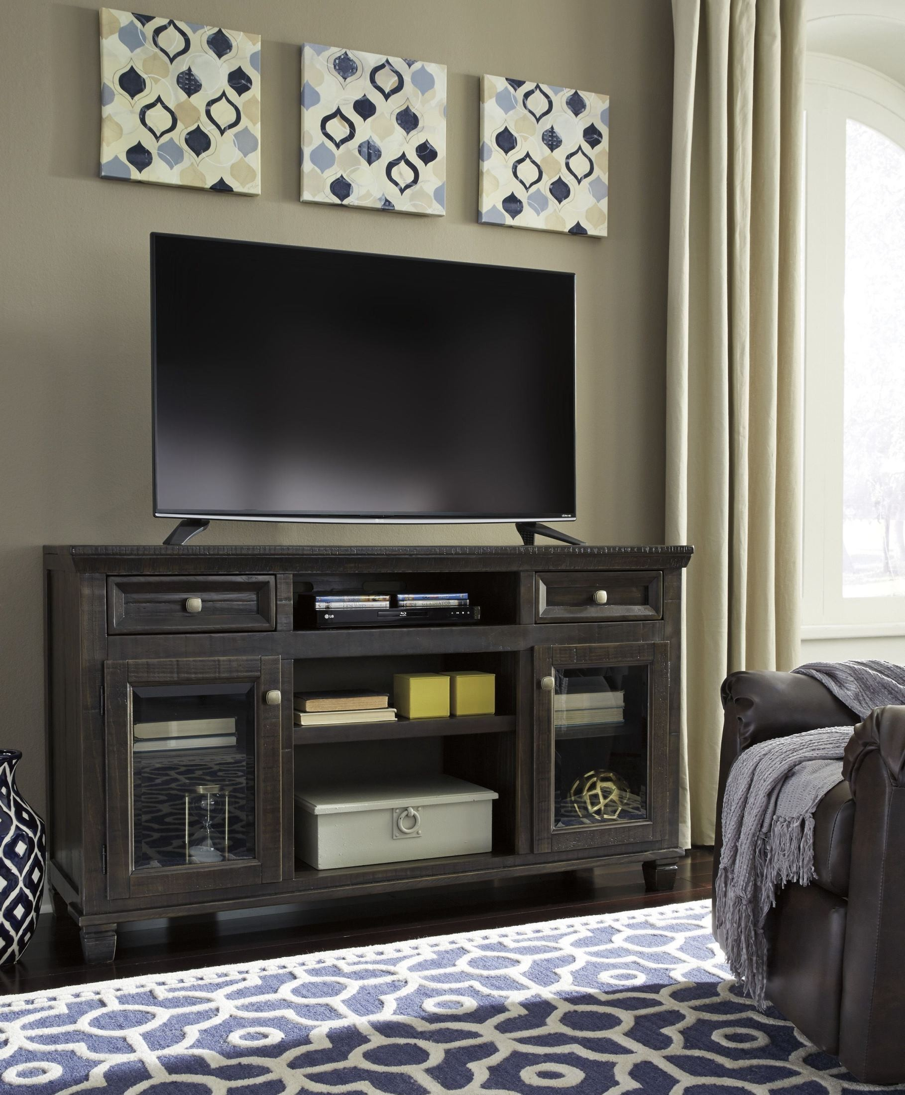 Townser Waxy Grayish Brown TV Stand from Ashley