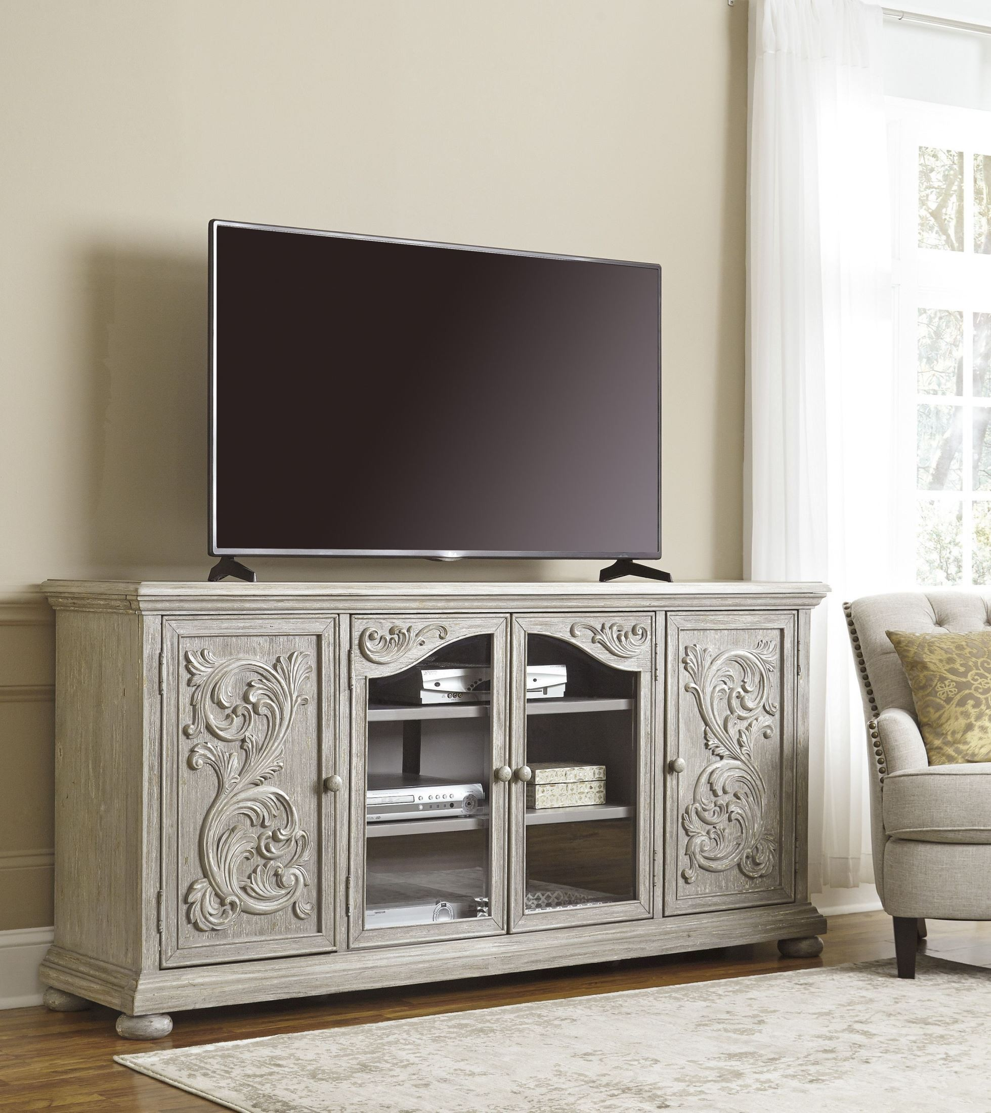 Marleny Gray Extra Large Tv Stand From Ashley Coleman