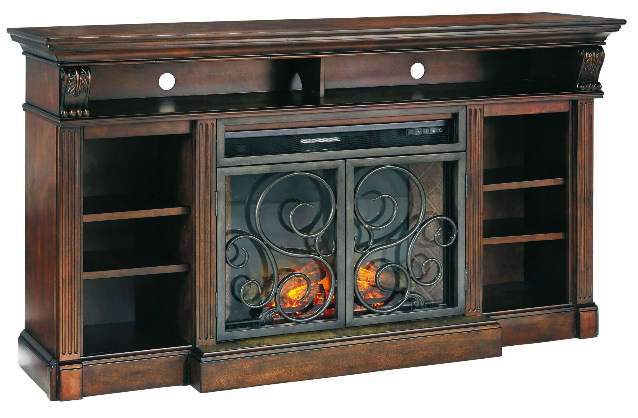 Alymere Extra Large Tv Stand With Fireplace Insert From
