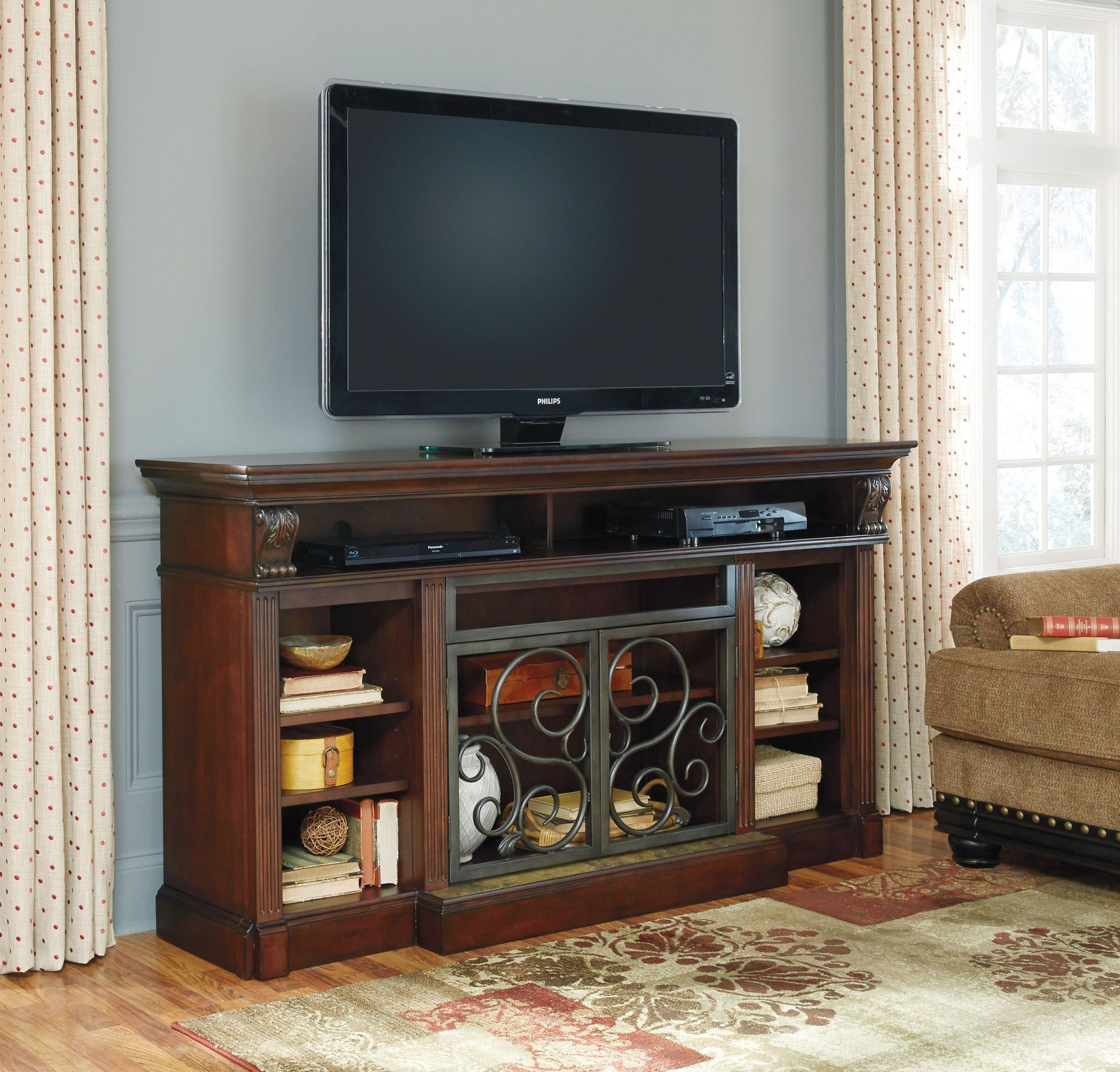 Alymere Extra Large TV Stand With Fireplace Insert from ...