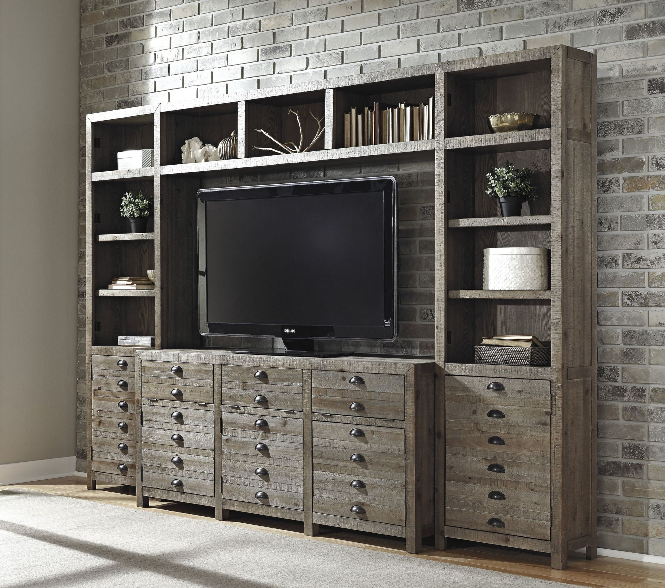 Keeblen Grayish Brown Entertainment Wall Unit From Ashley