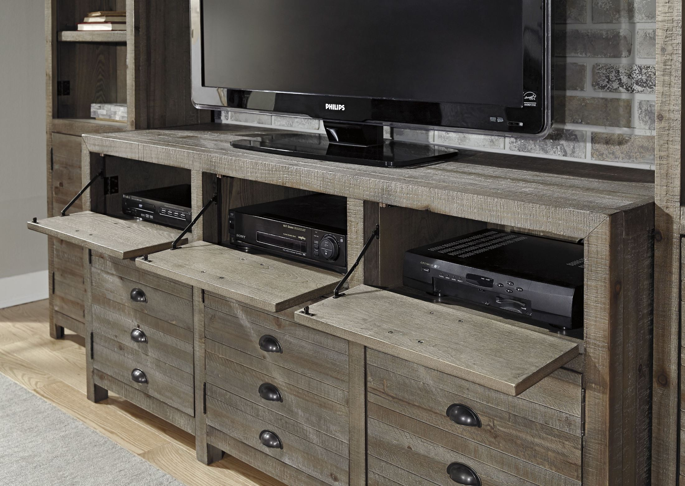 Keeblen Grayish Brown Extra Large Tv Stand From Ashley