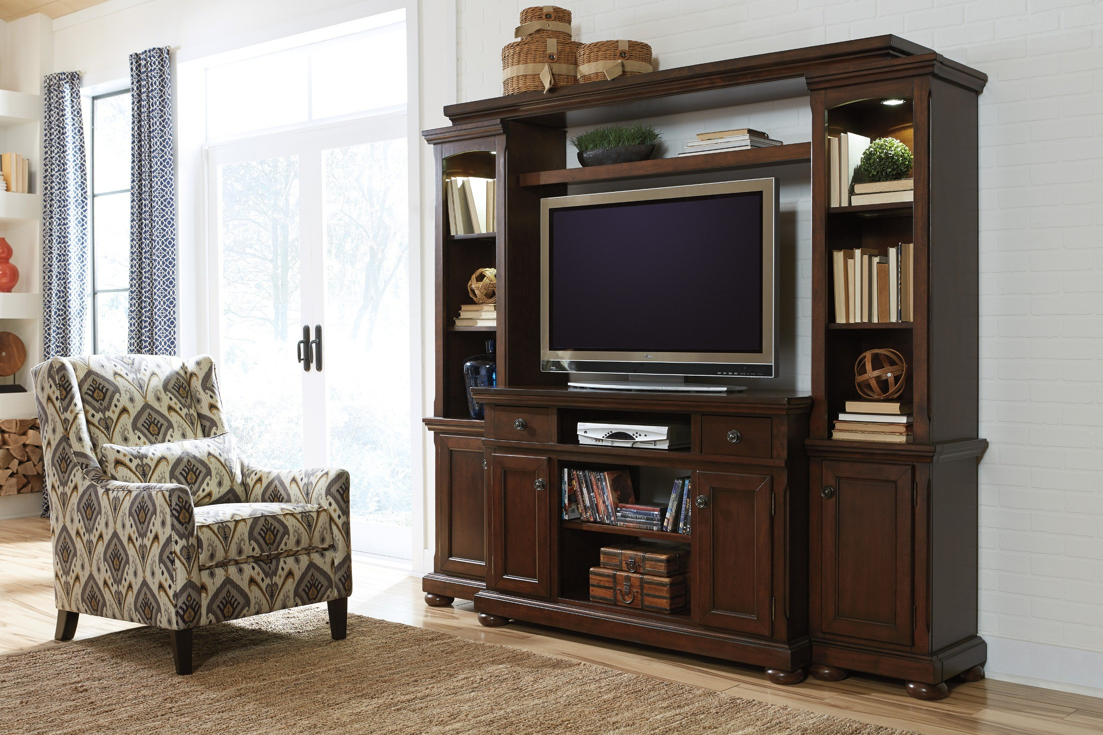 Porter Bedroom Set Porter Entertainment Wall Unit From Ashley W697 120 23 24