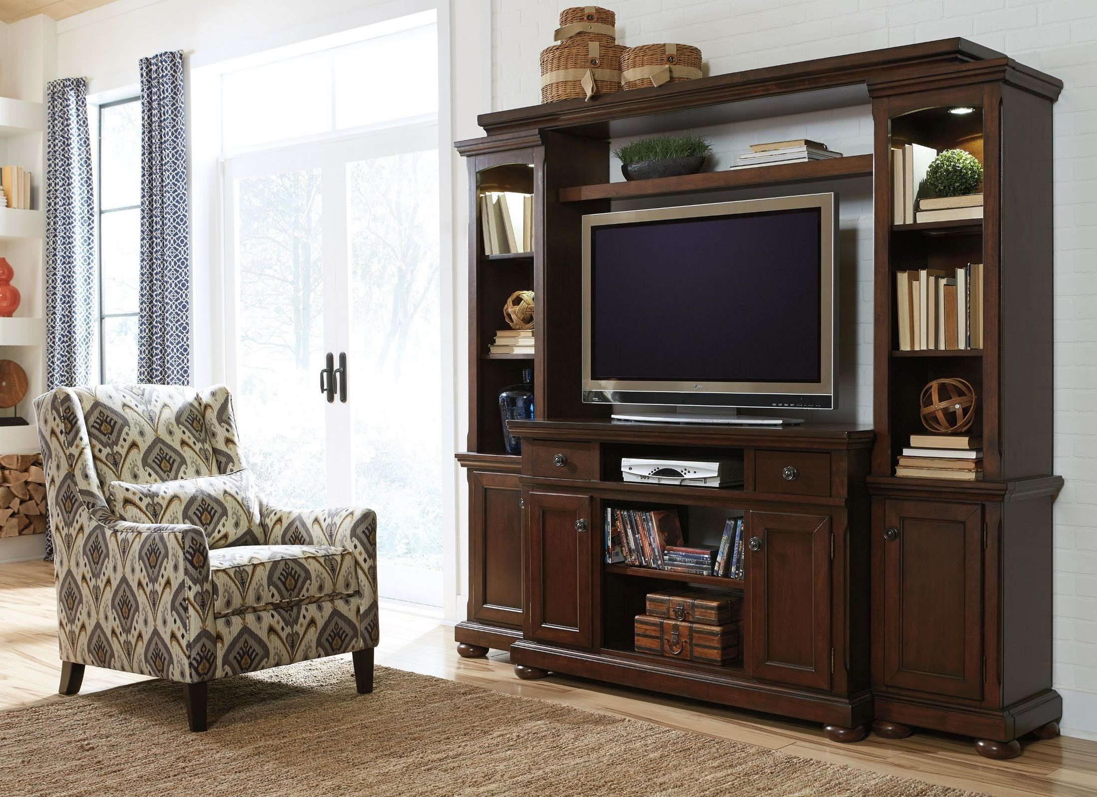 Porter Entertainment Wall Unit From Ashley W697 120 23 24