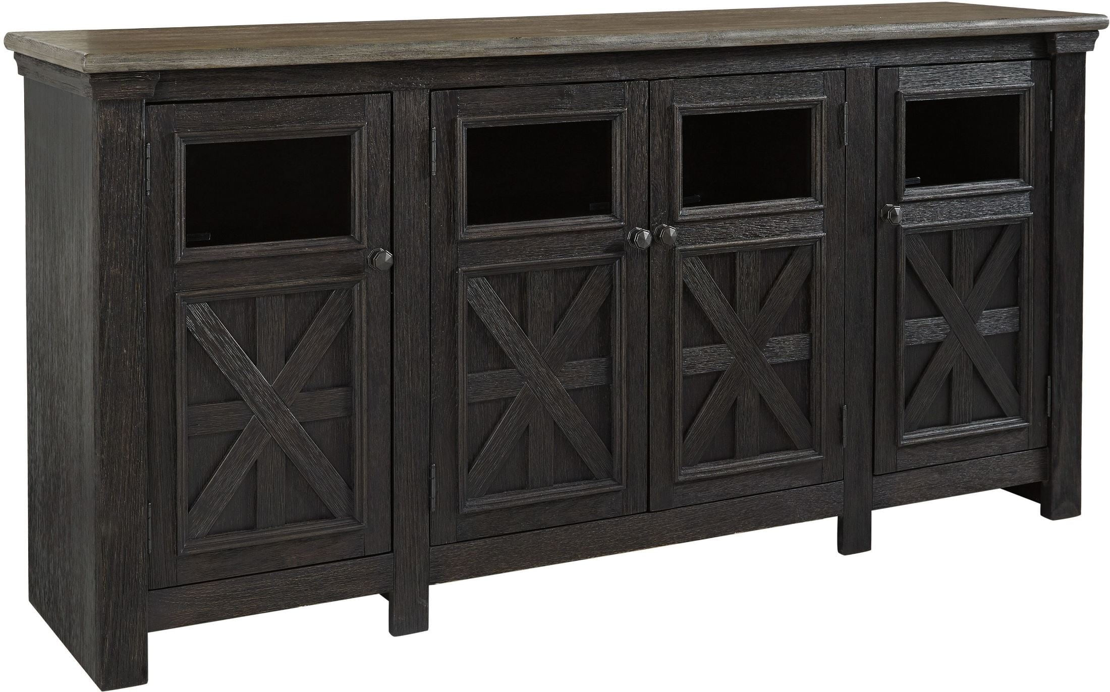 Tyler Creek Black And Gray Extra Large TV Stand From Ashley | Coleman  Furniture