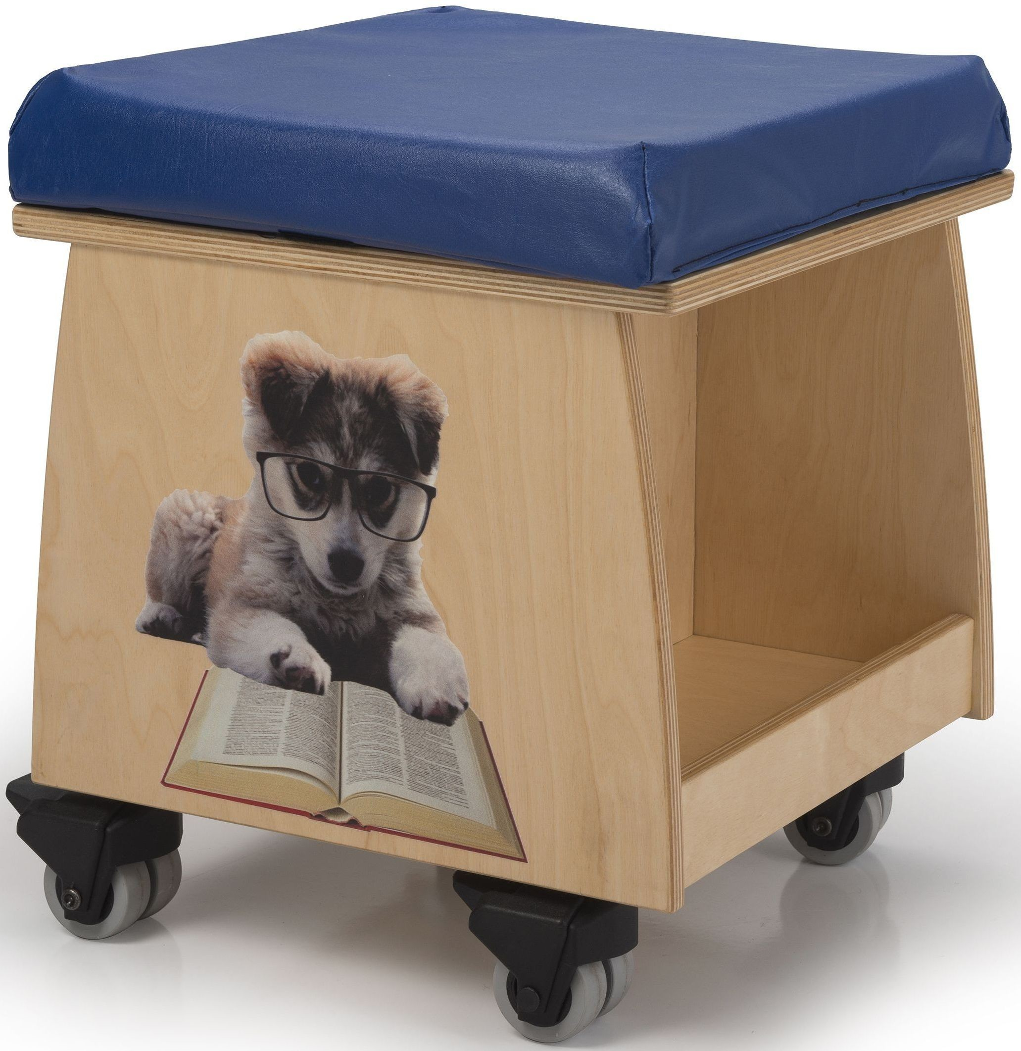Book Lovers Teacher Stool With Image From Whitney Brothers