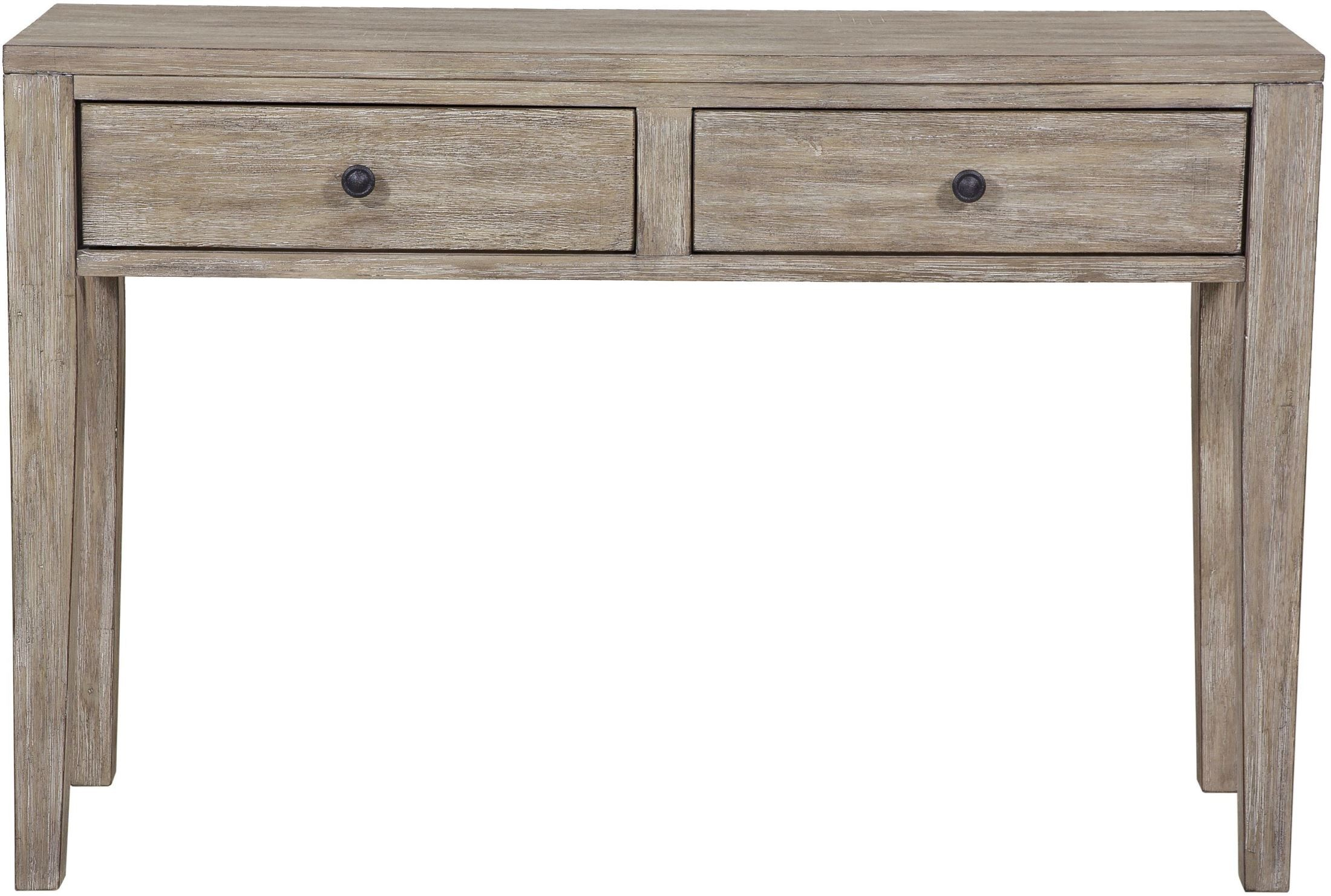 Distressed wood storage accent console table from pulaski