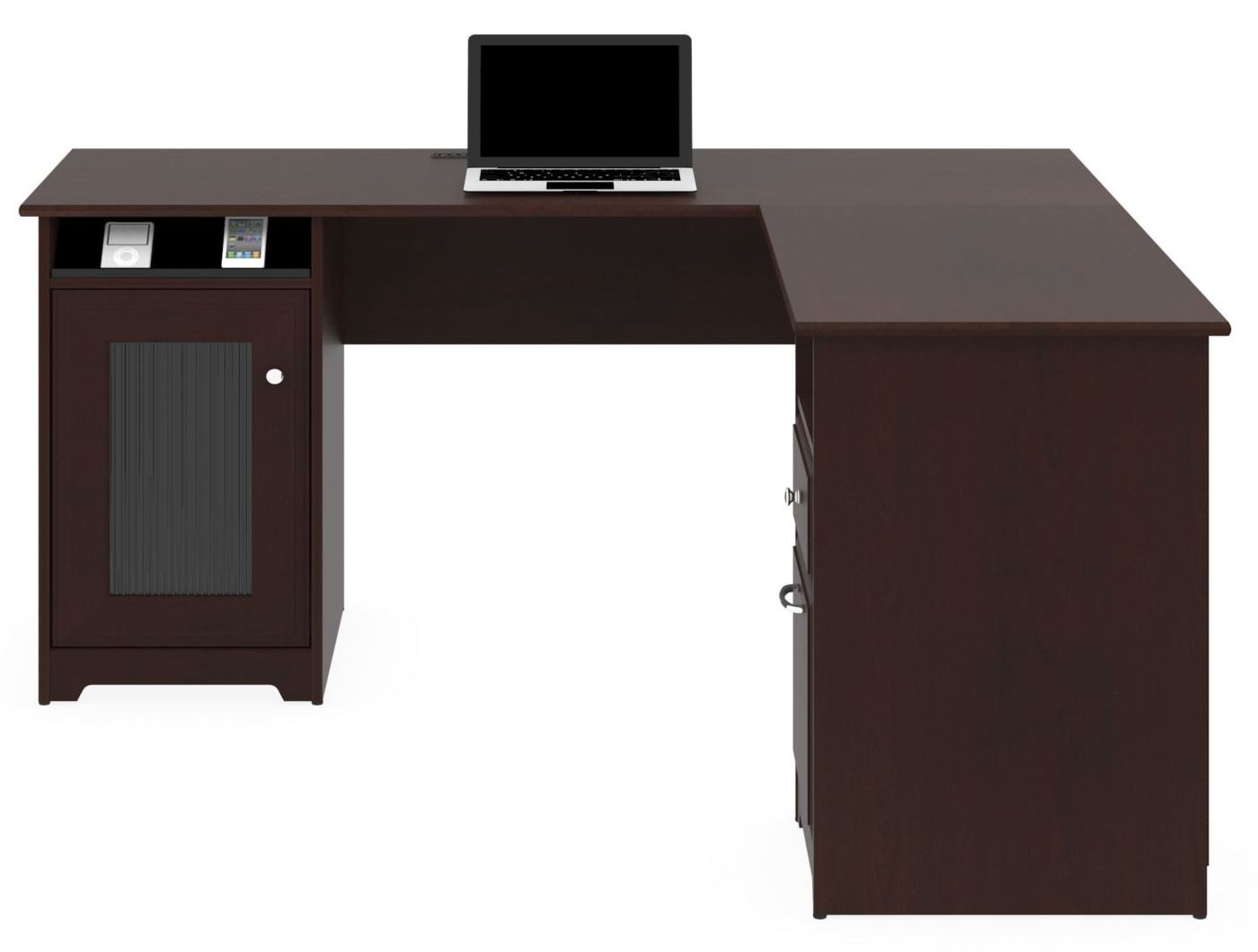 Cabot Harvest Cherry L Home Office Set From Bush Wc31430