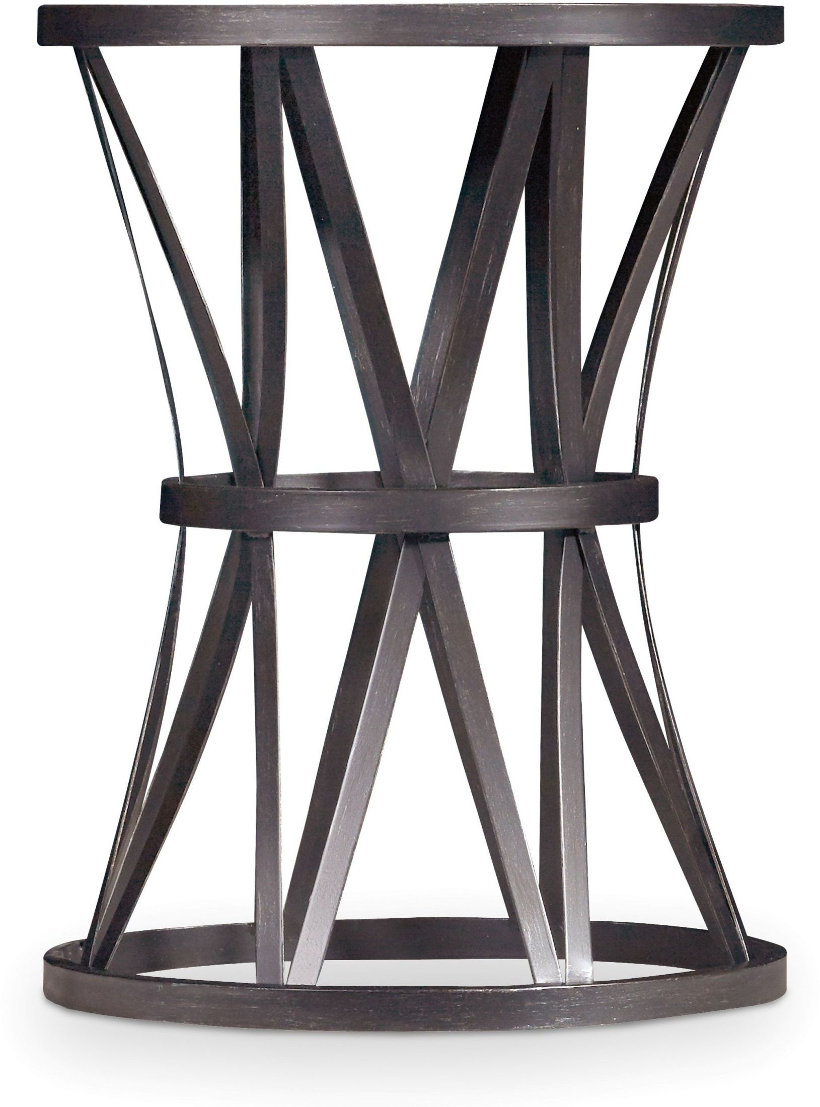chadwick dark wood round end table from hooker coleman furniture. Black Bedroom Furniture Sets. Home Design Ideas