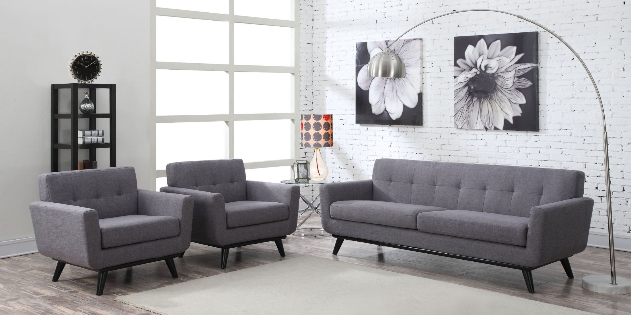 James gray linen living room set from tov a53 coleman for Grey front room furniture