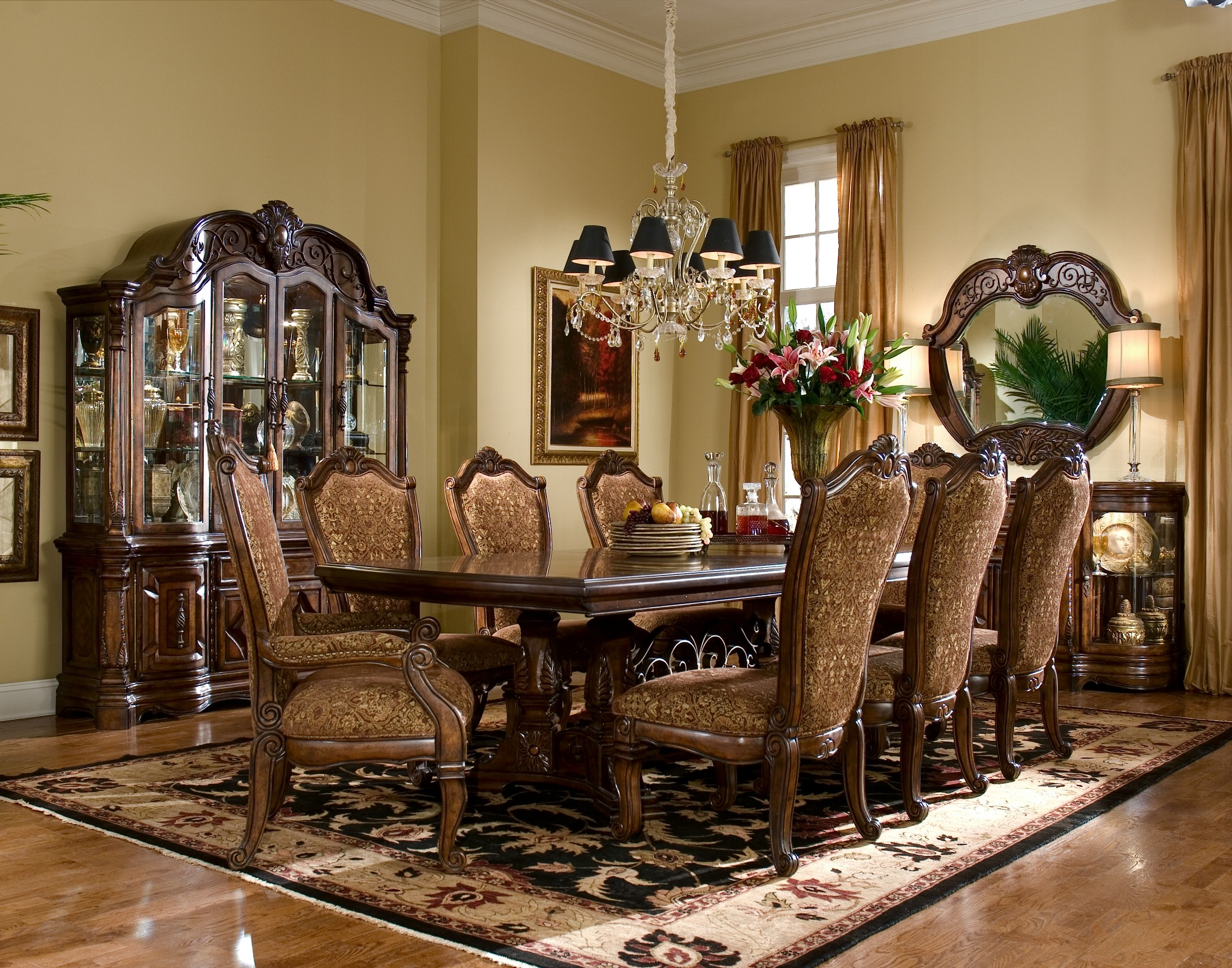 Windsor Court Rectangular Dining Room Set From Aico (7000) | Coleman  Furniture