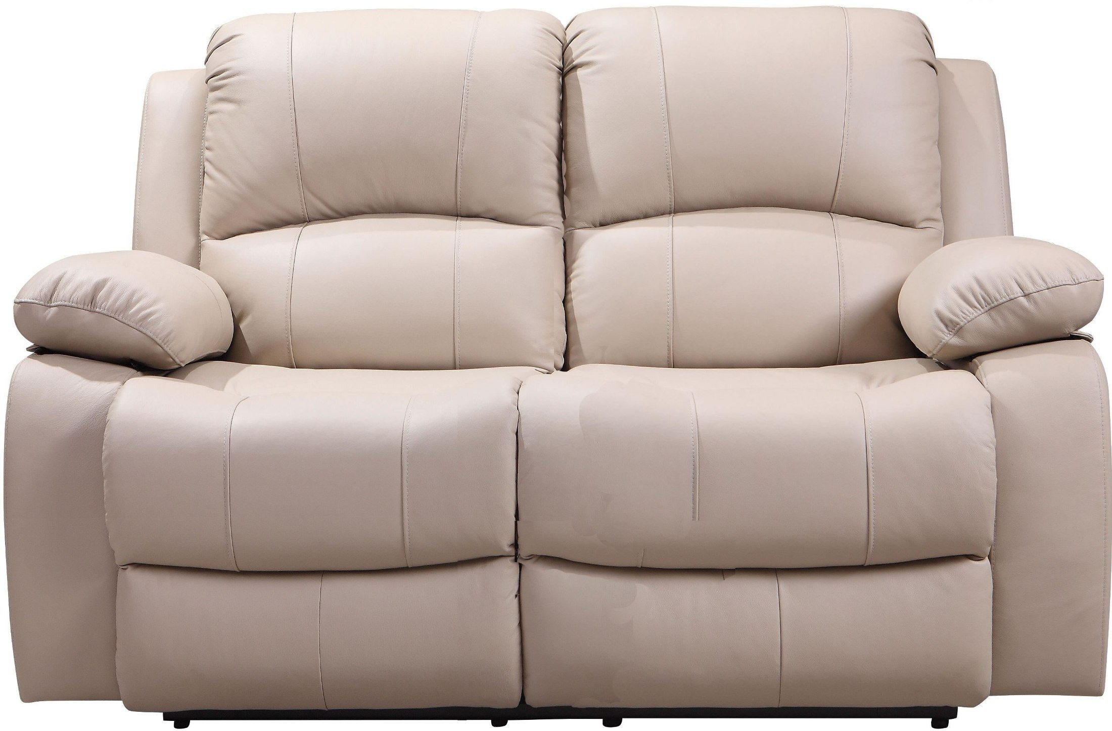 Shae Winnfield Taupe Leather Power Reclining Loveseat From Leather