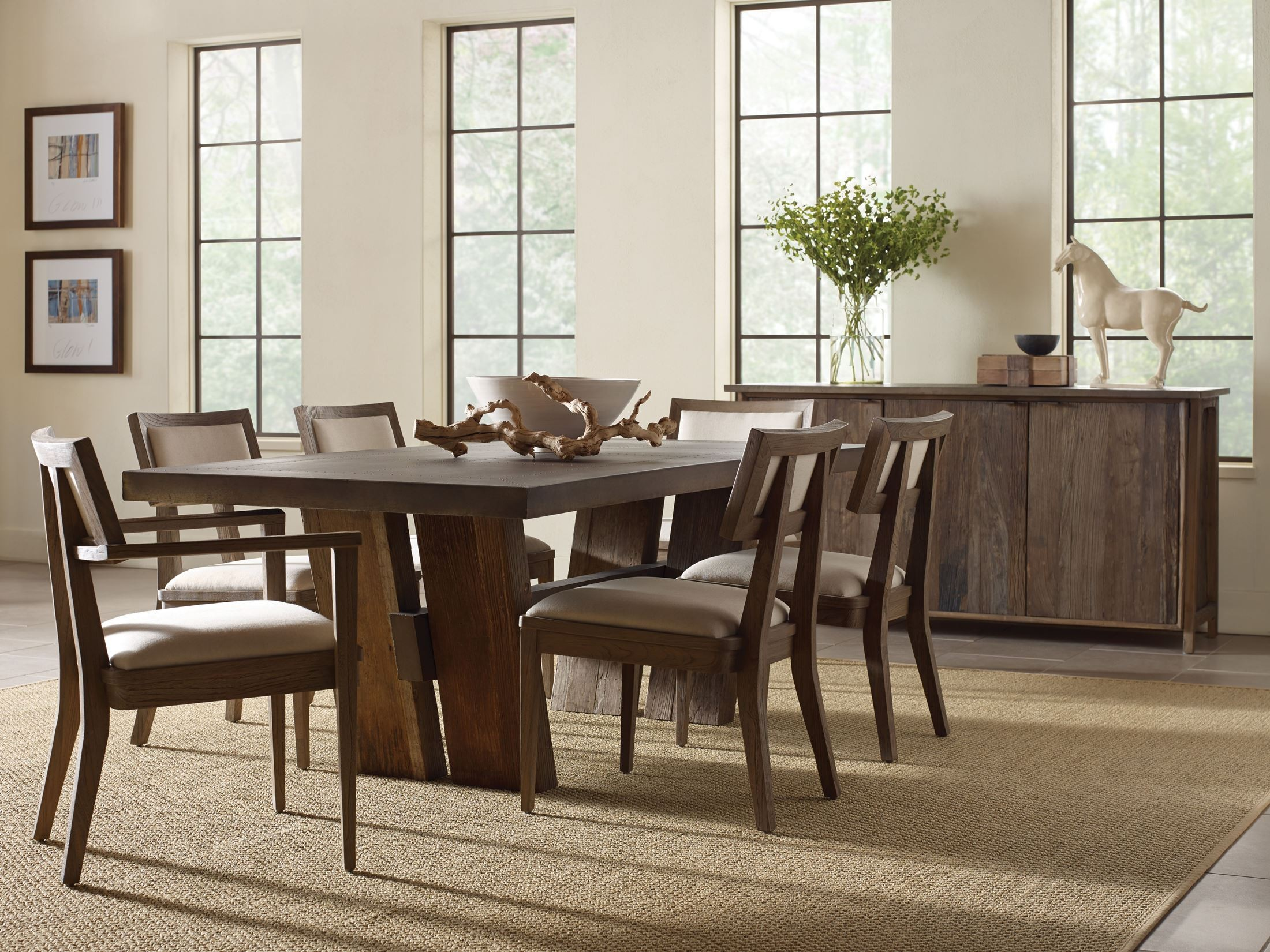 Winston Zinc Top Rectangular Dining Table from Brownstone ...