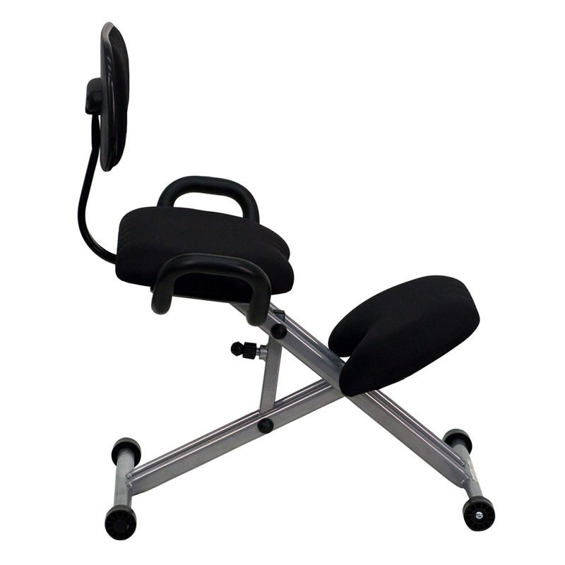 Ergonomic Kneeling Chair With Handles In Black From