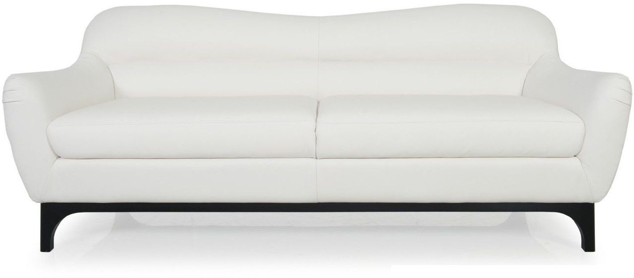 wollo pure white top grain leather sofa