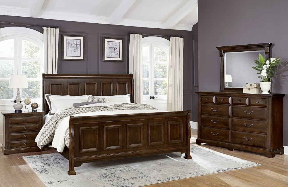 Woodlands Cherry Sleigh Bedroom Set From Virginia House Coleman Furniture