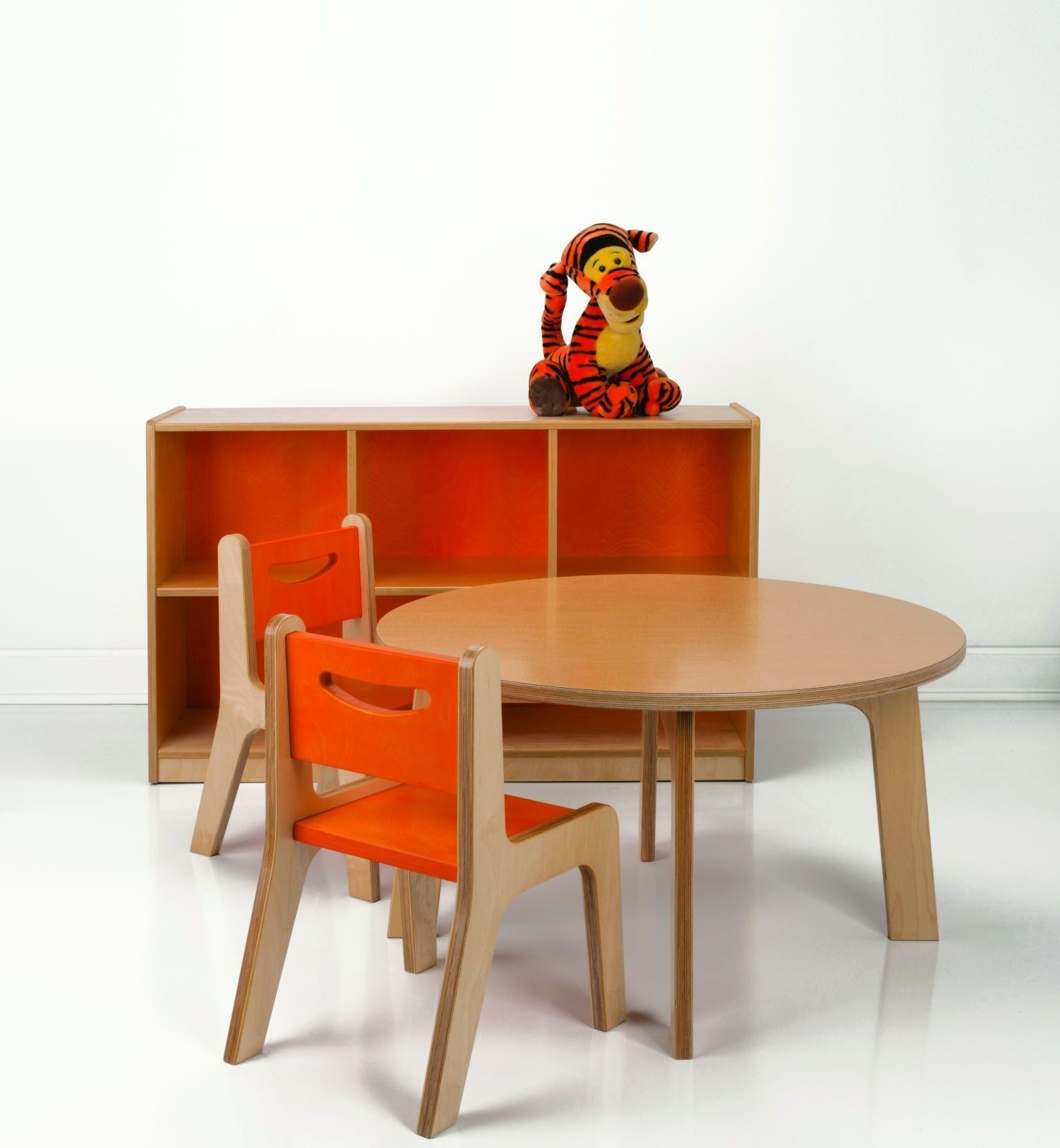 """Maple Dining Room Set: Maple 22"""" High Round Dining Room Set From Whitney Brothers"""