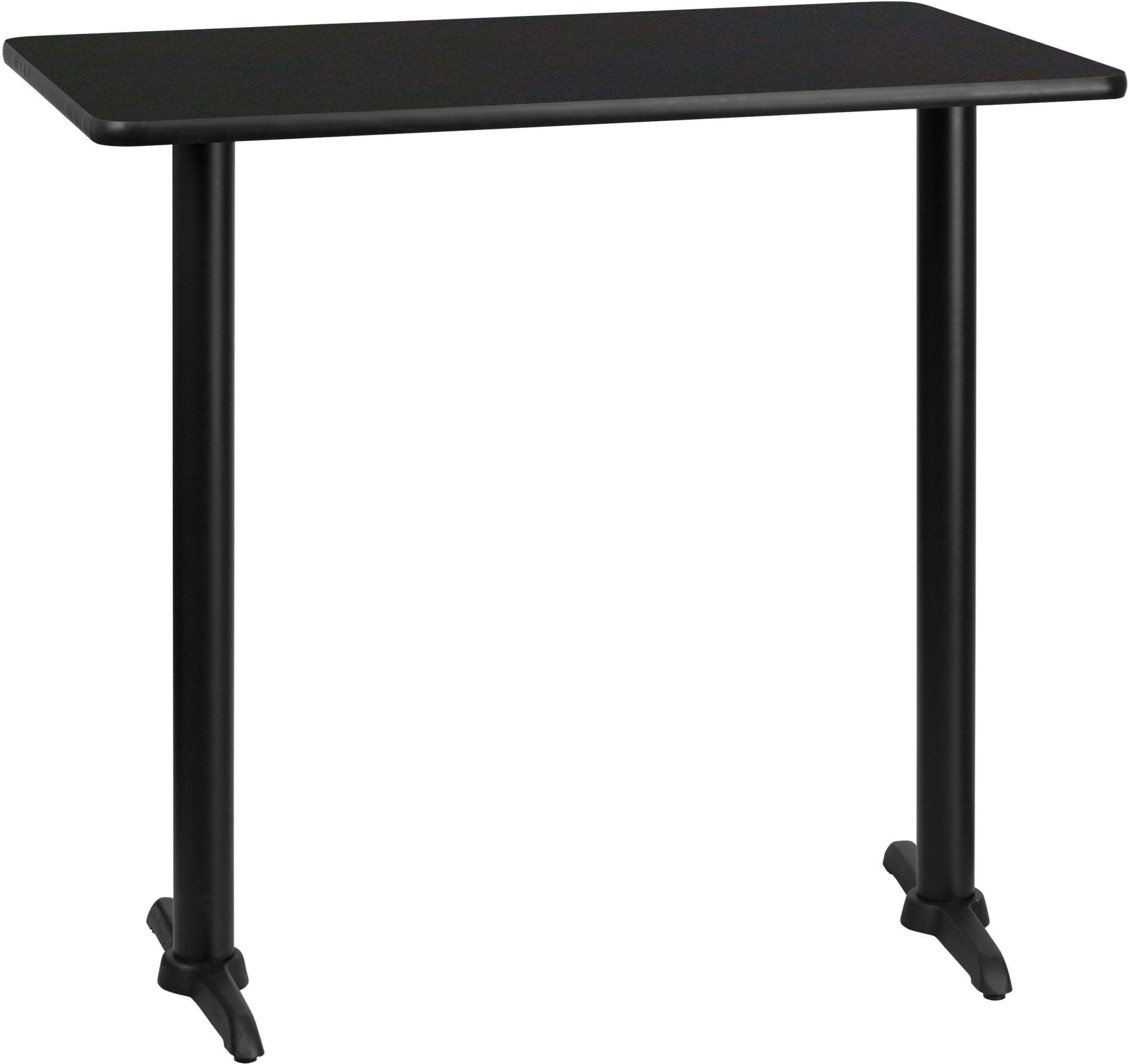"Rectangular Pub Tables Amazon Com: 42"" Rectangular Black Laminate Table Top With 22"" Bar"