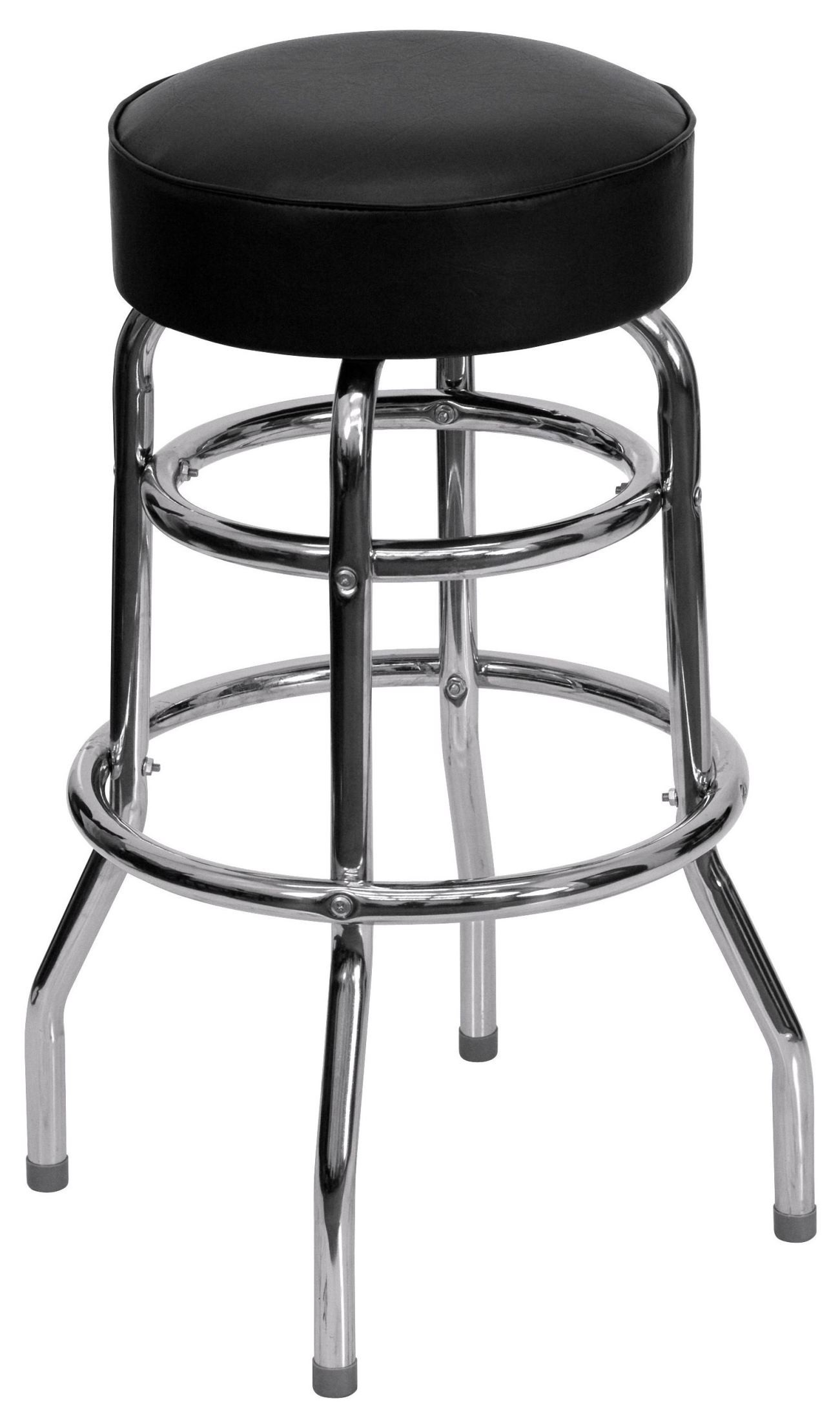 double ring chrome bar stool from renegade coleman furniture