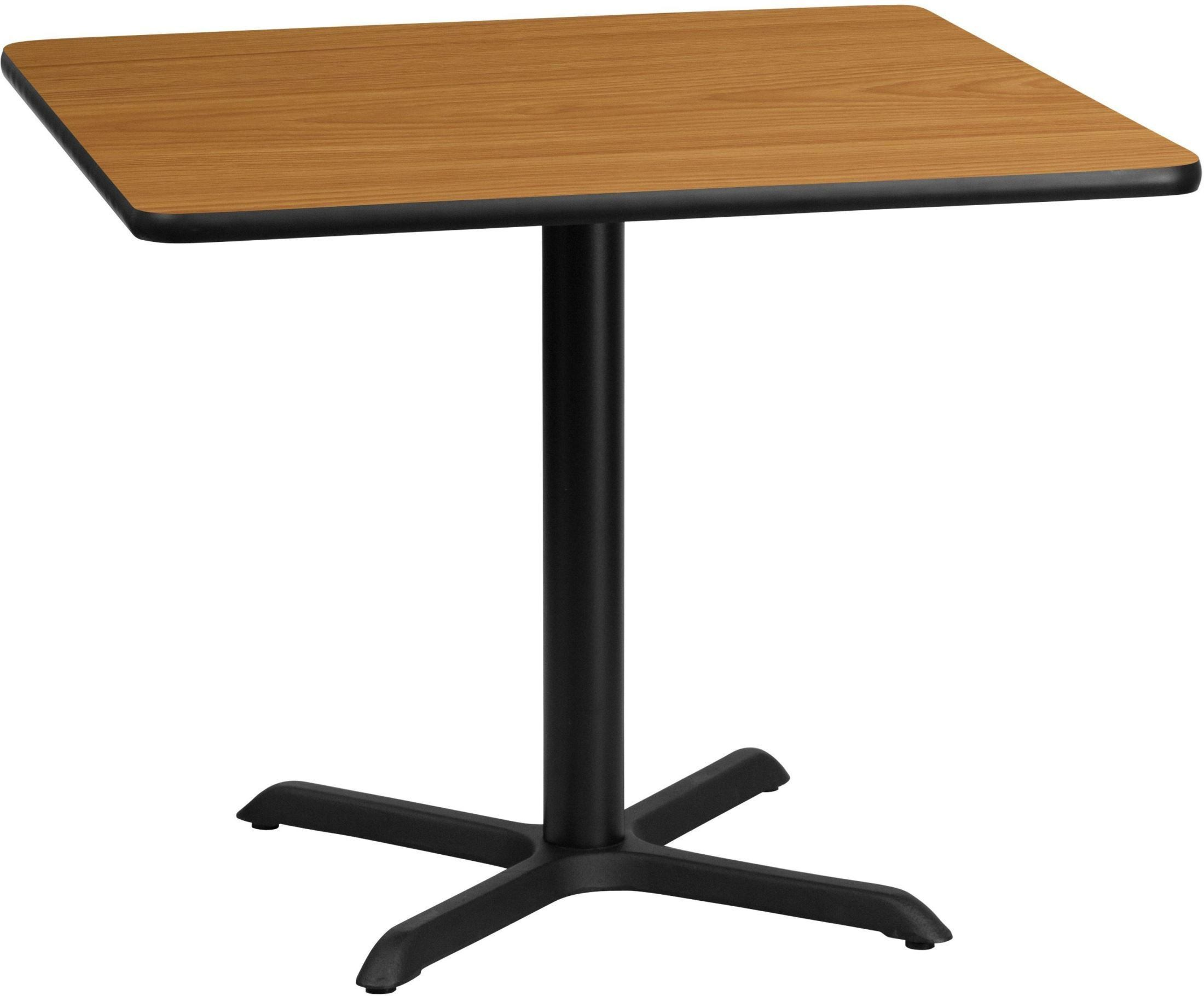 """Table Height 36: 36"""" Square Natural Laminate Table Top With 30"""" Table"""