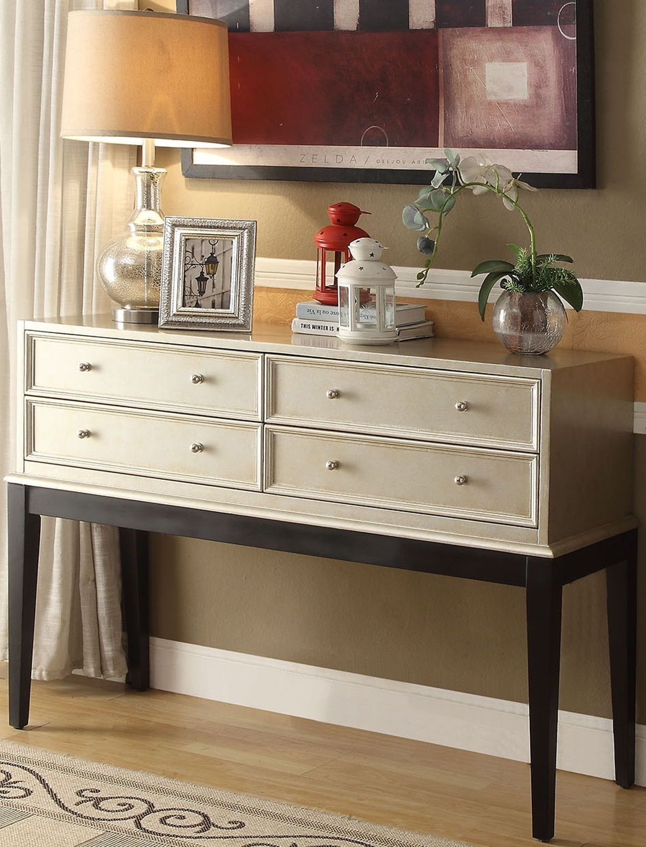 Anthology Beige And Black Irene Console Table From Legends