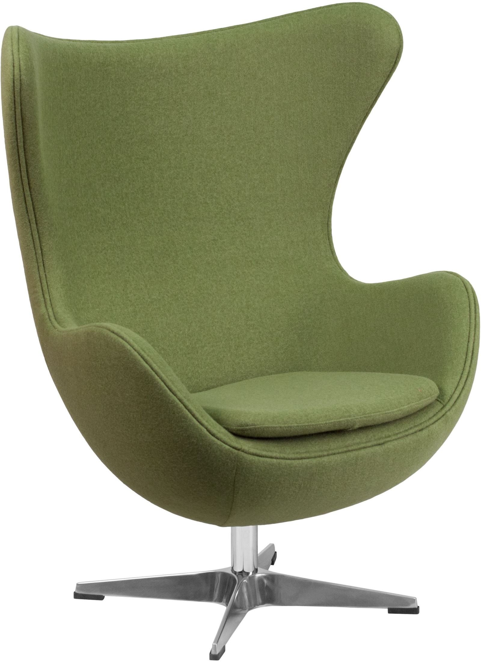 grass green wool fabric egg chair with tilt lock mechanism from renegade coleman furniture. Black Bedroom Furniture Sets. Home Design Ideas