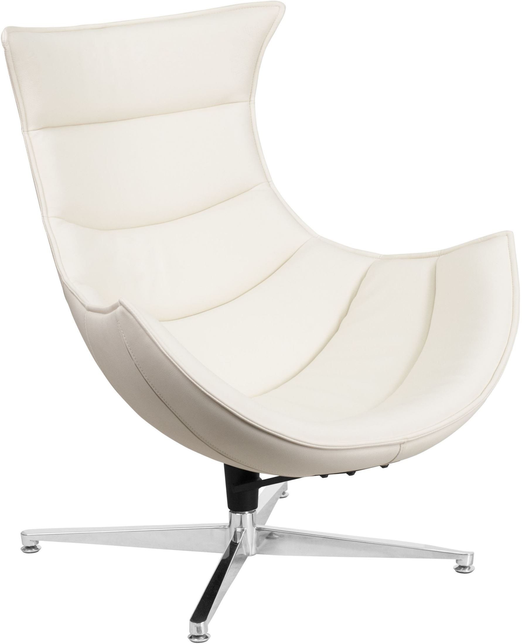 white leather swivel armchair white leather swivel cocoon chair from renegade coleman 22013 | zb 32 gg