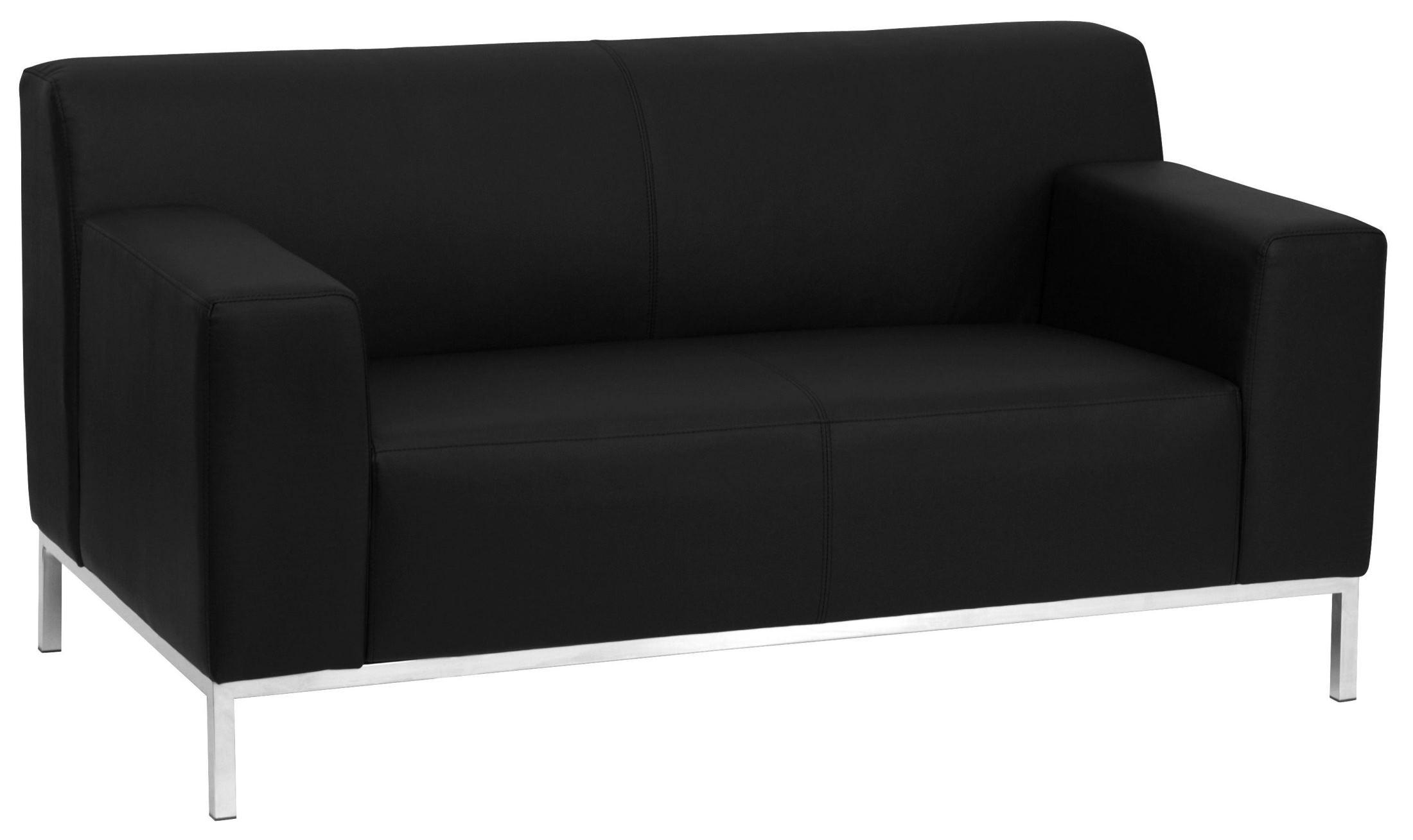 Hercules Definity Series Black Leather Loveseat From Renegade Coleman Furniture